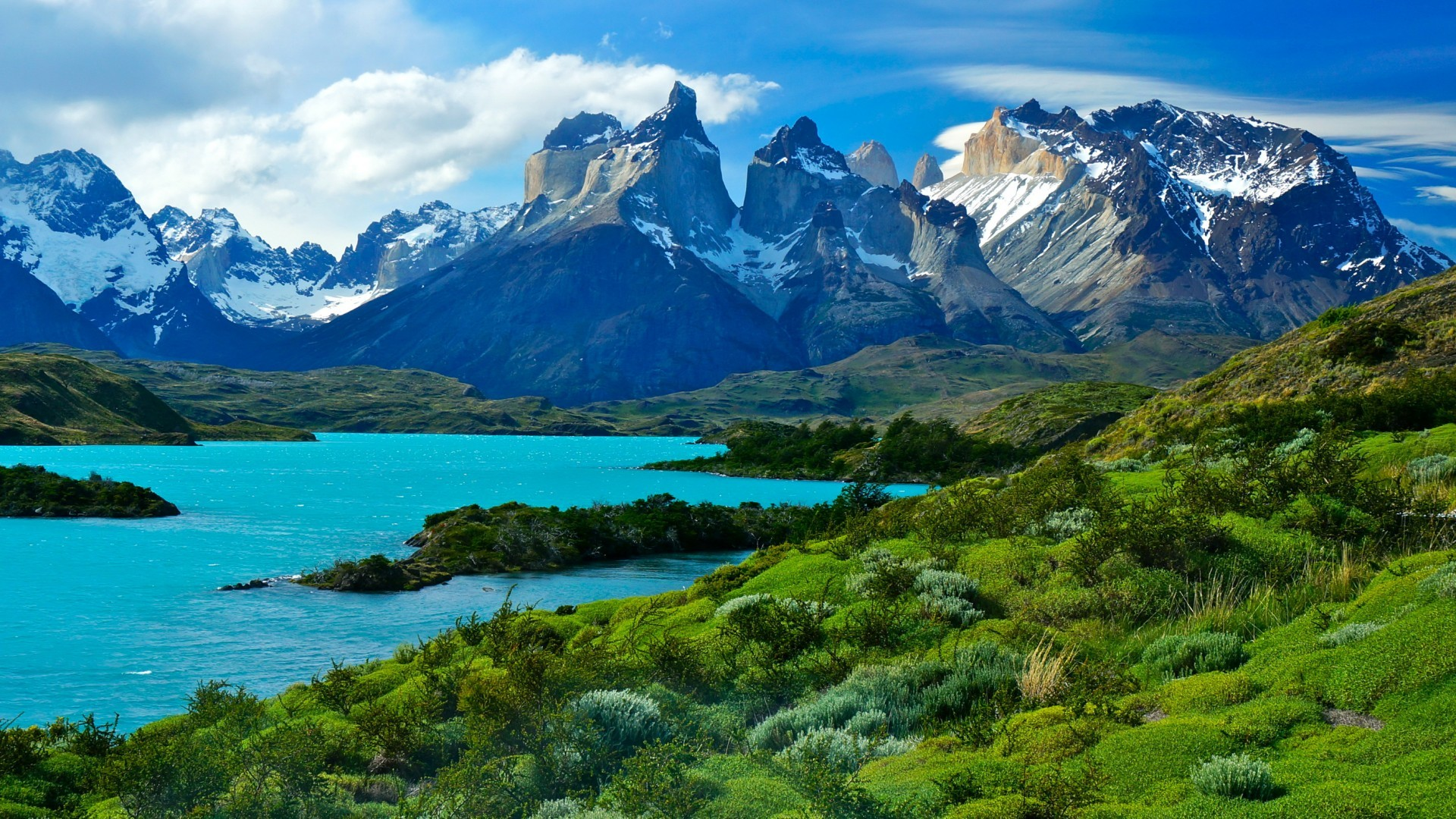 Wallpaper Torres del Paine National Park, Soaring mountains, HD, Nature,  #5501