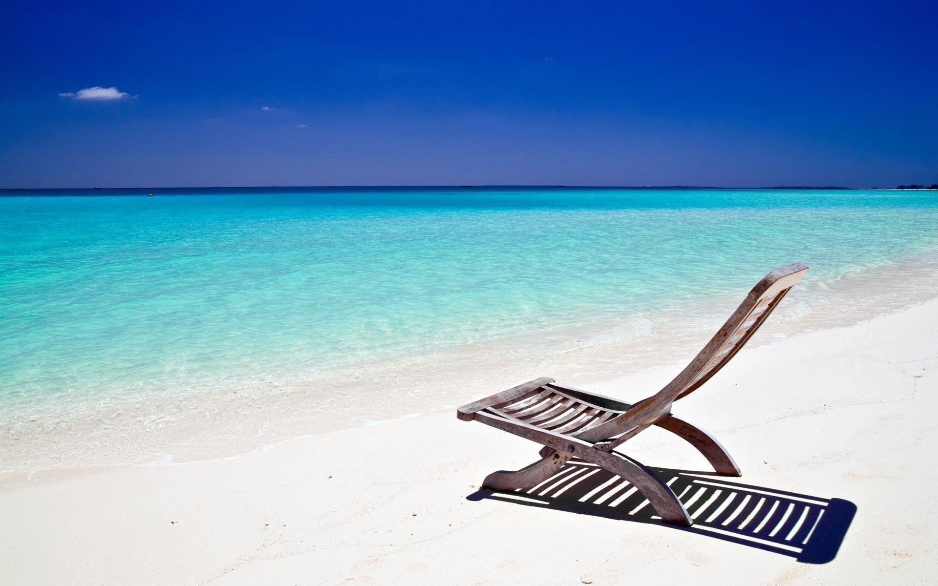 Umbrella beach chairs sun 1366×768 iwallhd wallpaper hd | Download Wallpaper  | Pinterest | Beach chairs and Wallpaper