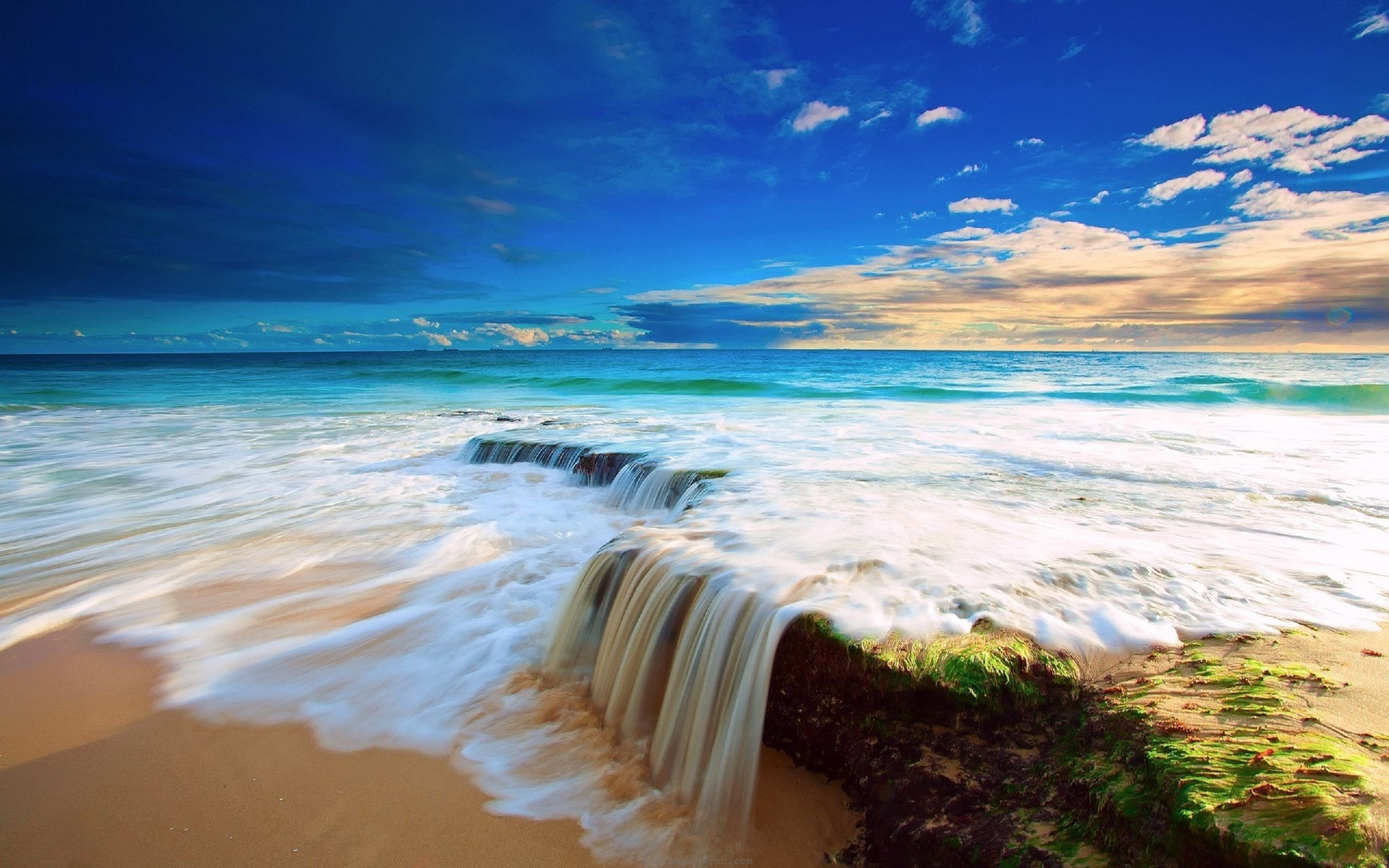 Beautiful Beach Ocean Water HD Wallpaper Download awesome, Nice and High  Quality #HD #
