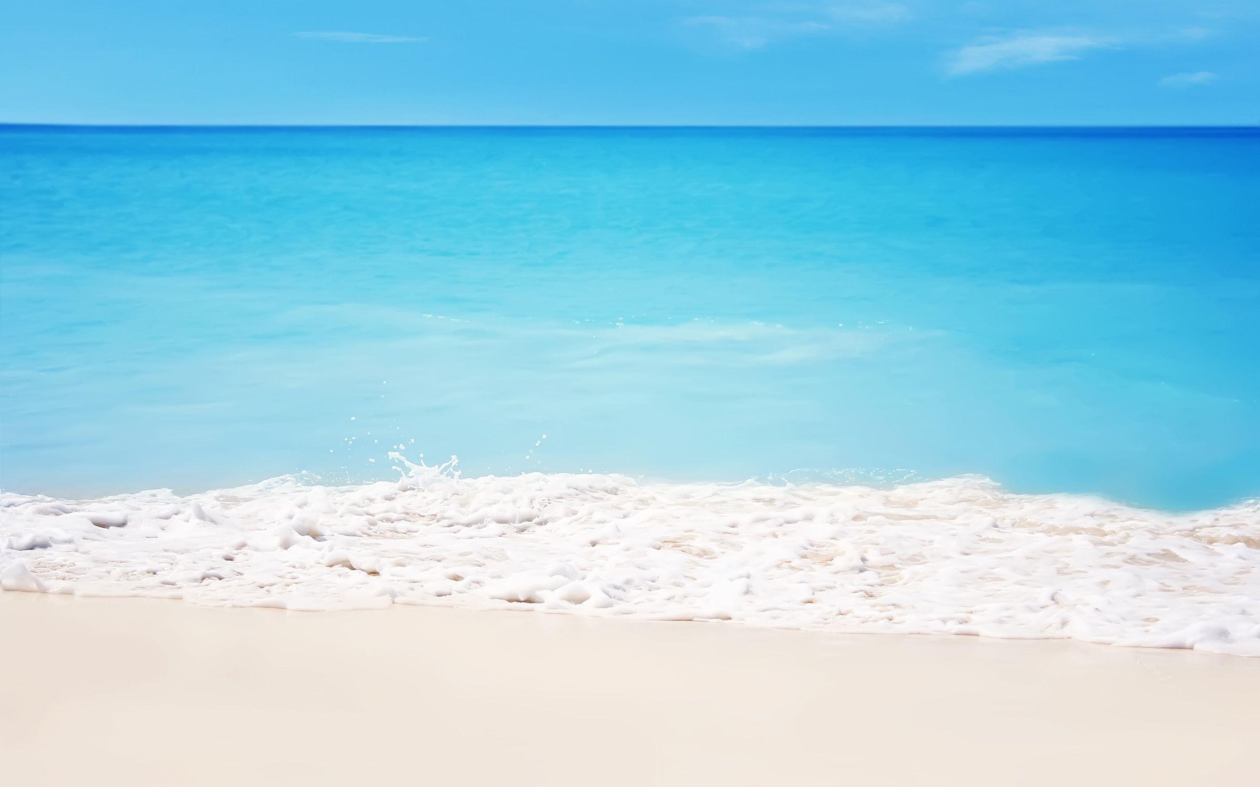 White Sand Beach Hd Wallpaper