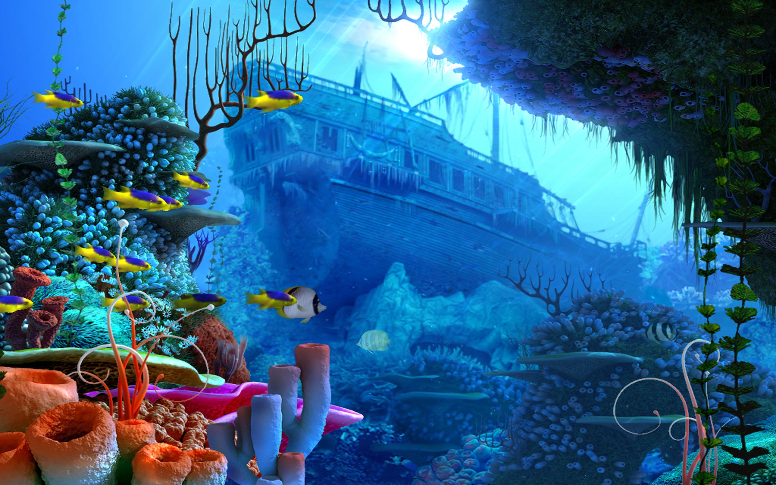 Android Wallpaper: Deep Blue Sea