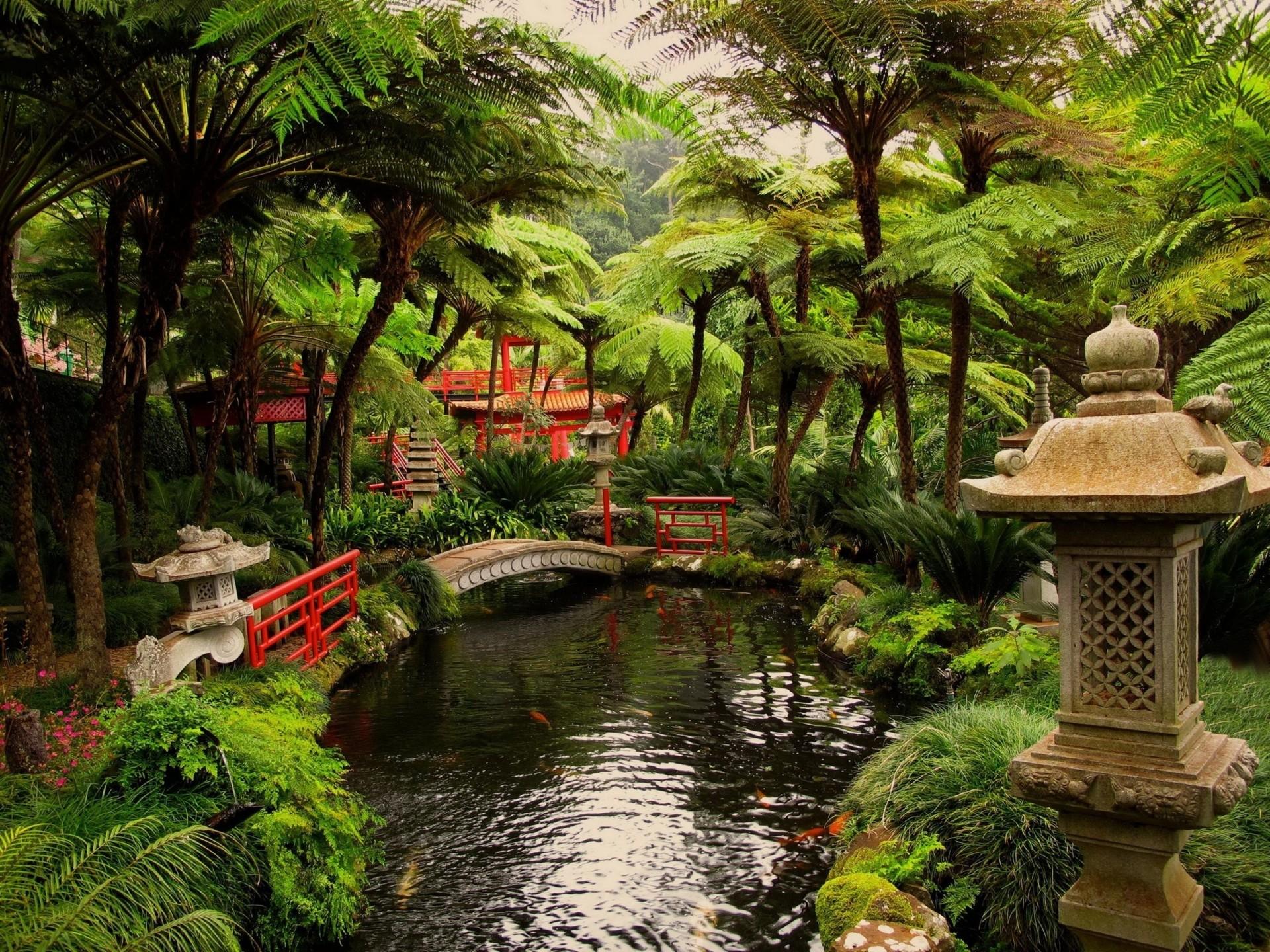 #Japanese #Garden [Nature • Miscellaneous] #bridge #desktop #wallpapers #