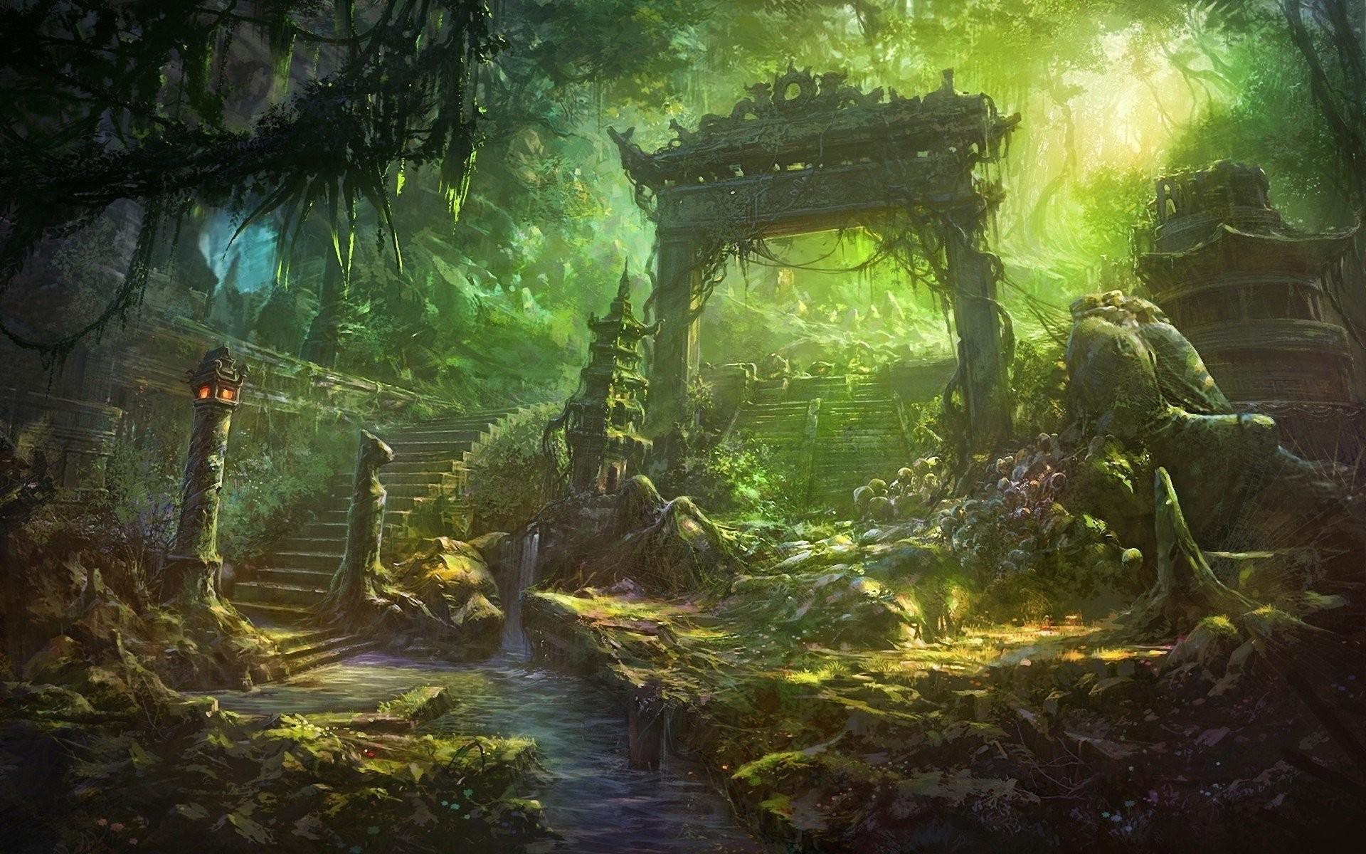 abandoned japanese garden – walldevil