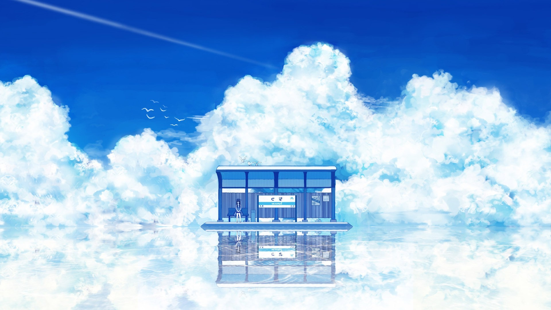 anime, Artwork, Fantasy Art, Clouds, Sky Wallpapers HD / Desktop and Mobile  Backgrounds