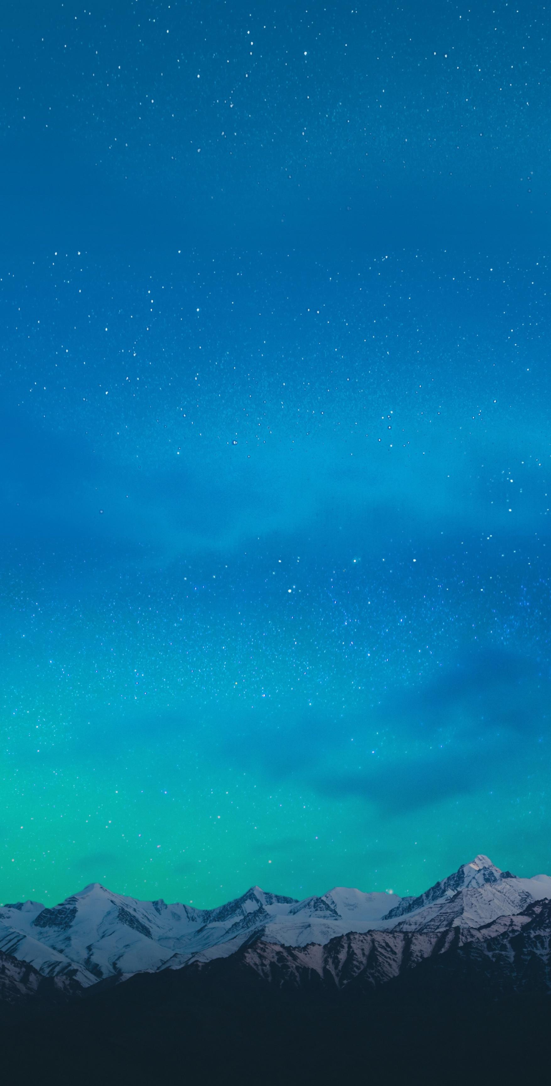 Mountain, aqua, wallpaper, galaxy, tranquil, beauty, nature, peaceful,