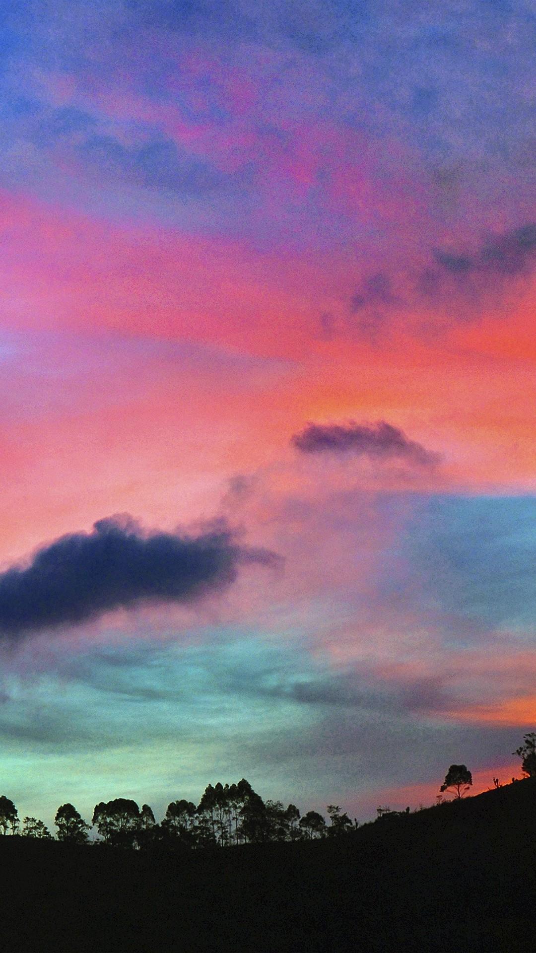 Sky Rainbow Cloud Sunset Nature iPhone 6 wallpaper
