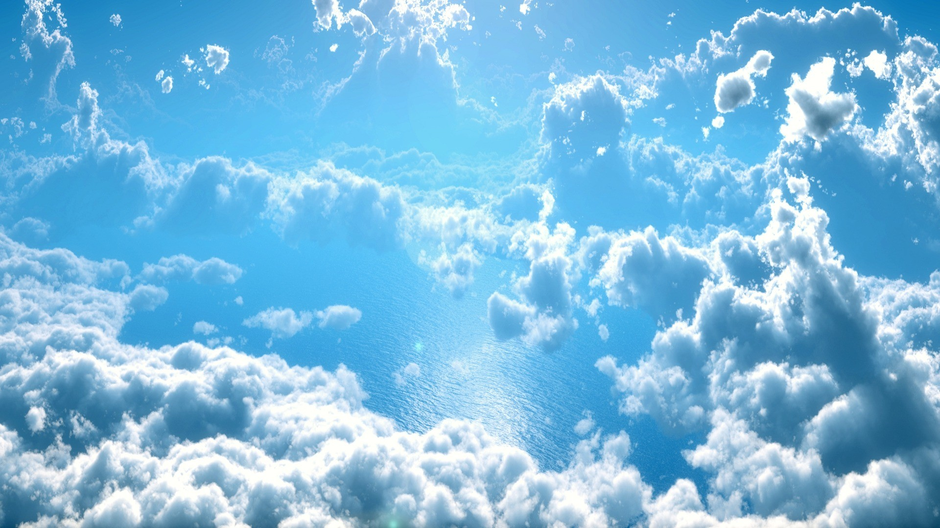 landscape water nature horizon cloud sky white sunlight atmosphere daytime  flowing scenic natural scenery cumulus blue