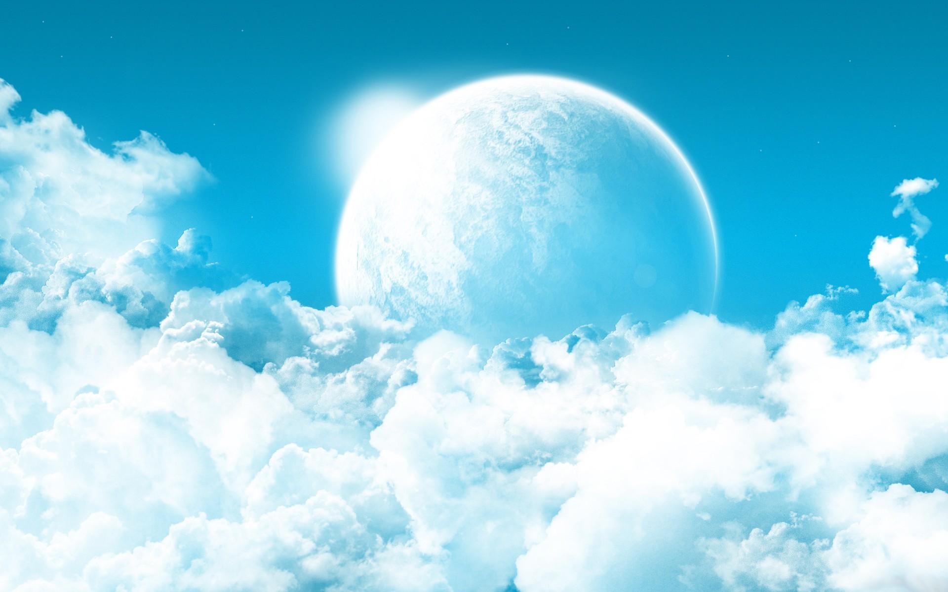Planet in the cloudy sky Fantasy HD desktop wallpaper, Planet wallpaper, Sky  wallpaper, Cloud wallpaper – Fantasy no.