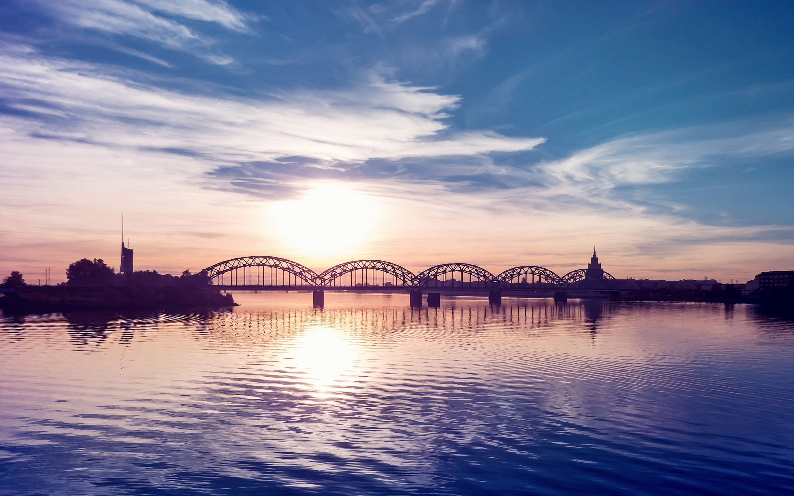 nature, Water, Bridge, Architecture, Sunset, Clouds, Sky, Reflection  Wallpapers HD / Desktop and Mobile Backgrounds