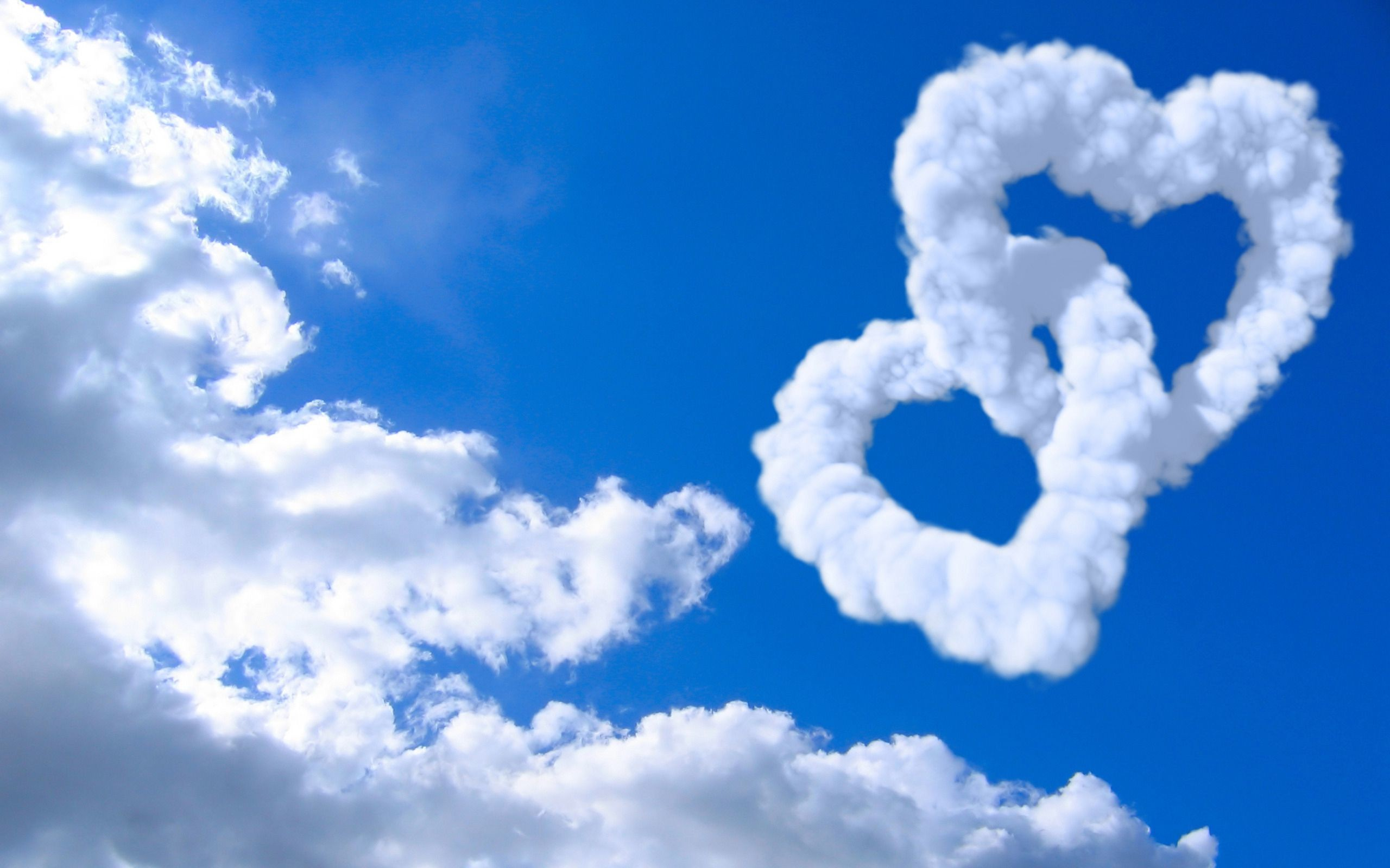 Hearts with Clouds and Blue Sky Background #1811