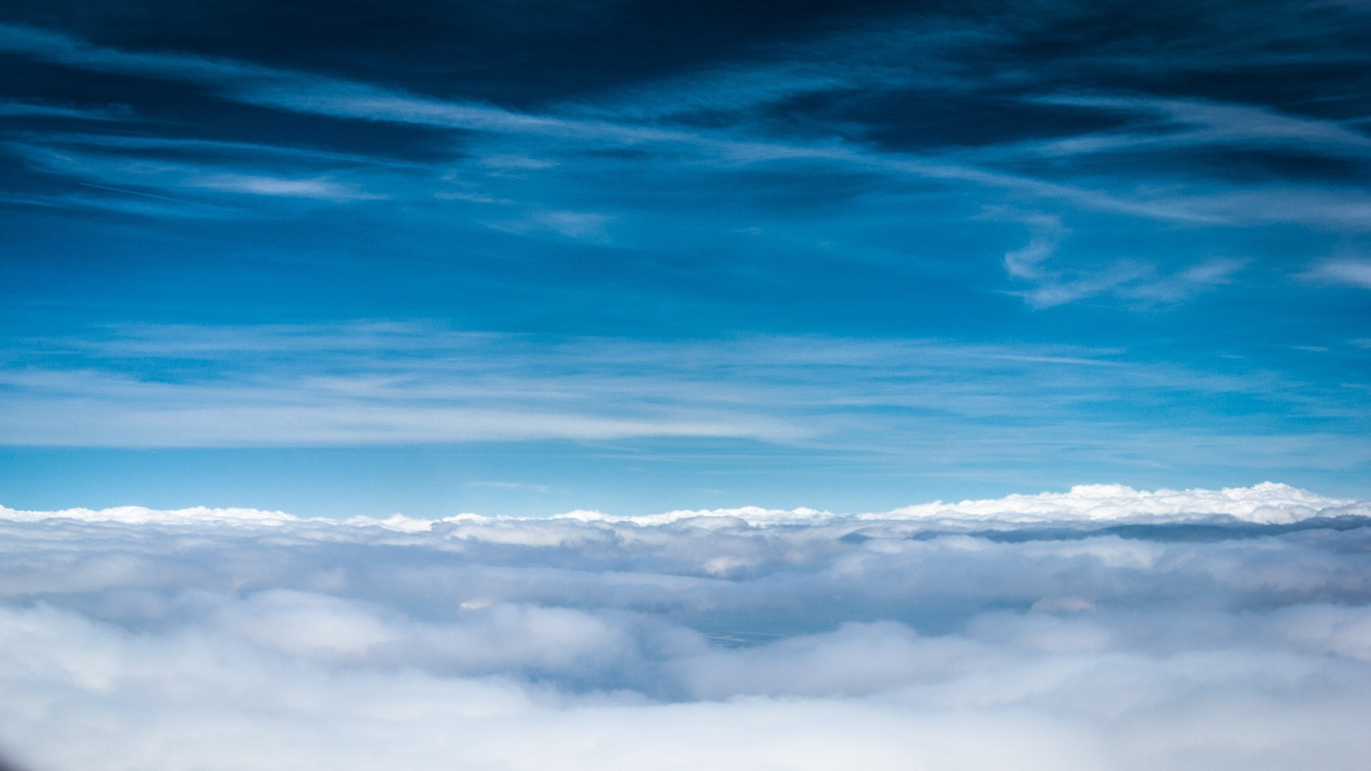 Wallpaper Clouds, Sky, Blue, Shades, Lines, Air, Freshness, Height