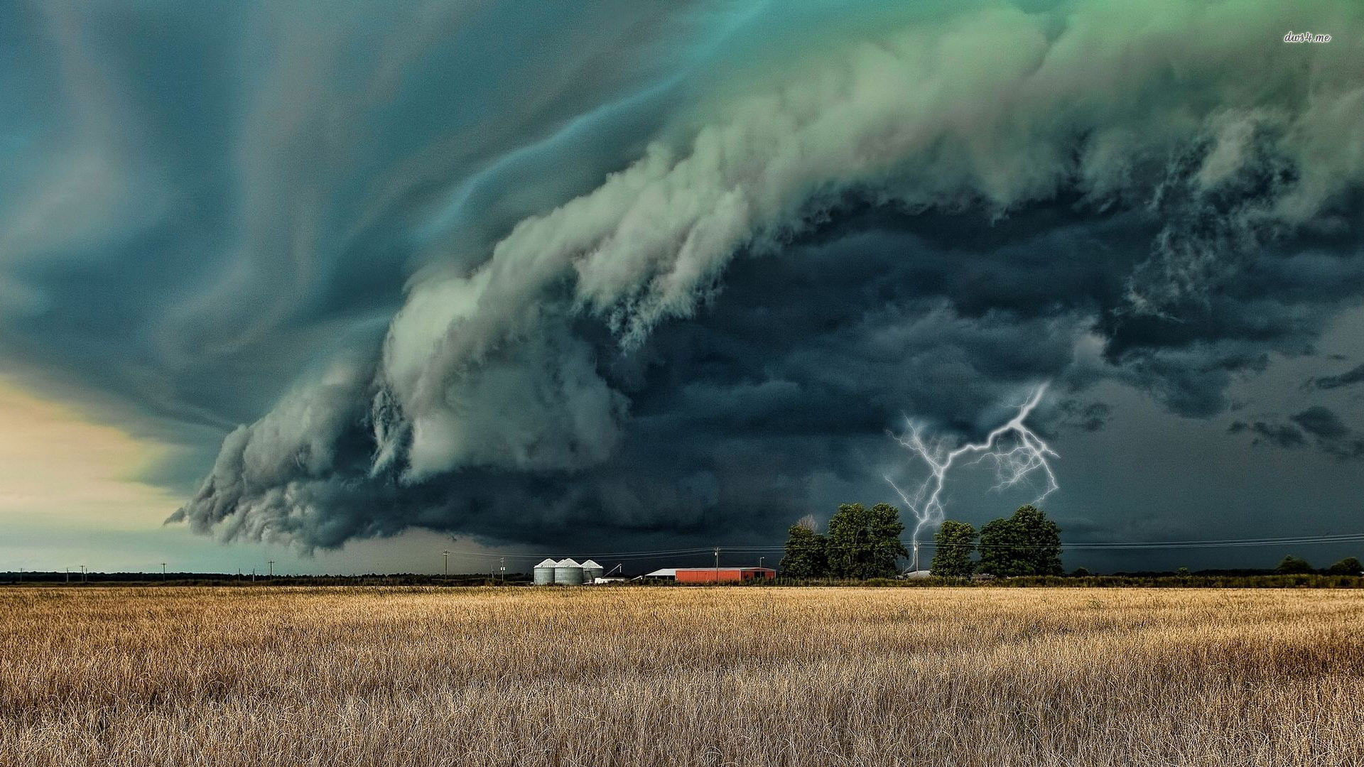 Your Wallpapers 17579 Storm Clouds Over Barn World .