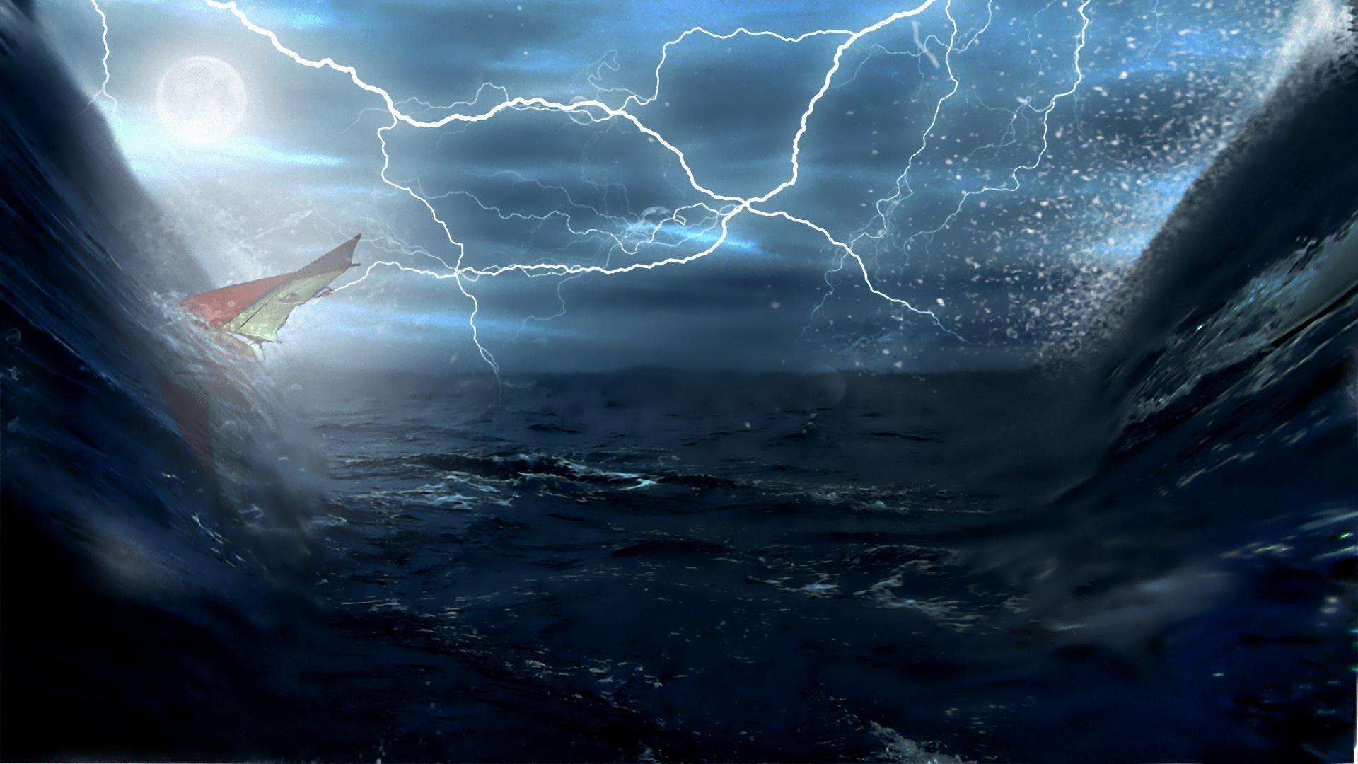 wallpaper.wiki-Lightning-Storm-Ship-Background-PIC-WPD003099