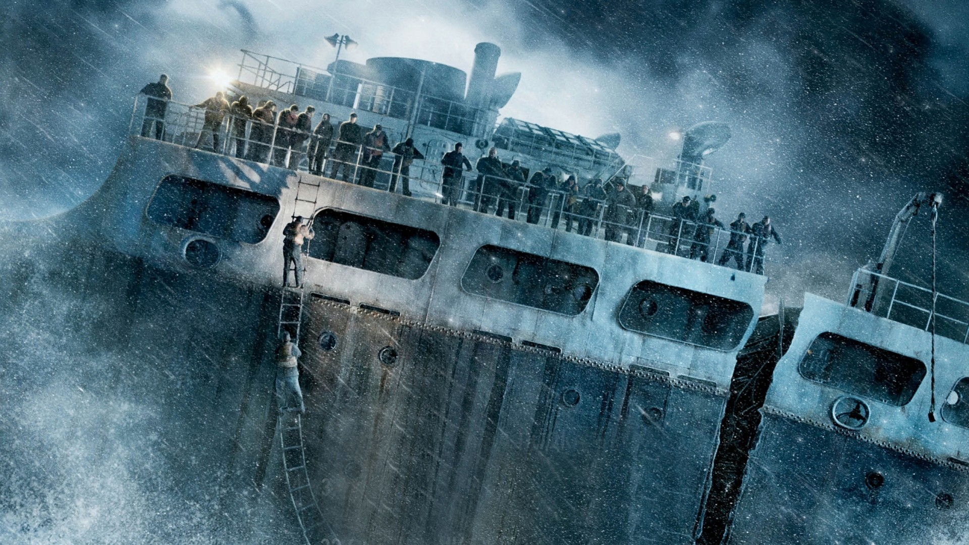 Preview wallpaper the finest hours, ship, wreck, storm 1920×1080