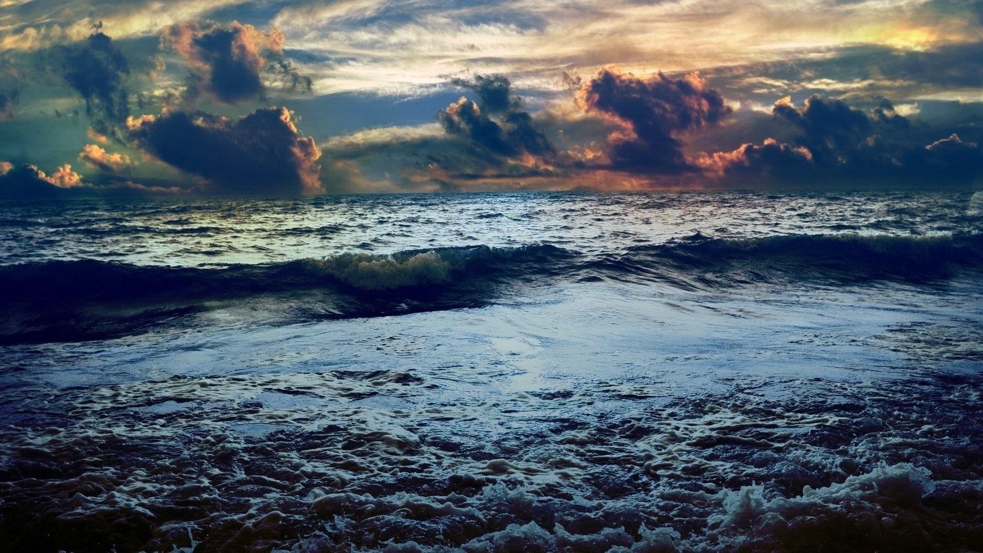 Storm Tag – Waves Beaches Clouds Storm Seascapes Nature Sea Ocean Sky  Horizon Sunrise Sunset Desktop