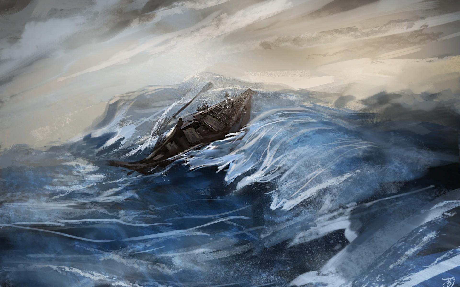 Ocean Storm Desktop Wallpaper