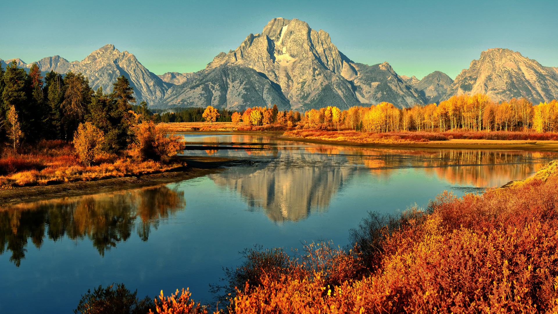Golden Morning at the Bend by © Jeff R. Clow – Desktop Wallpaper