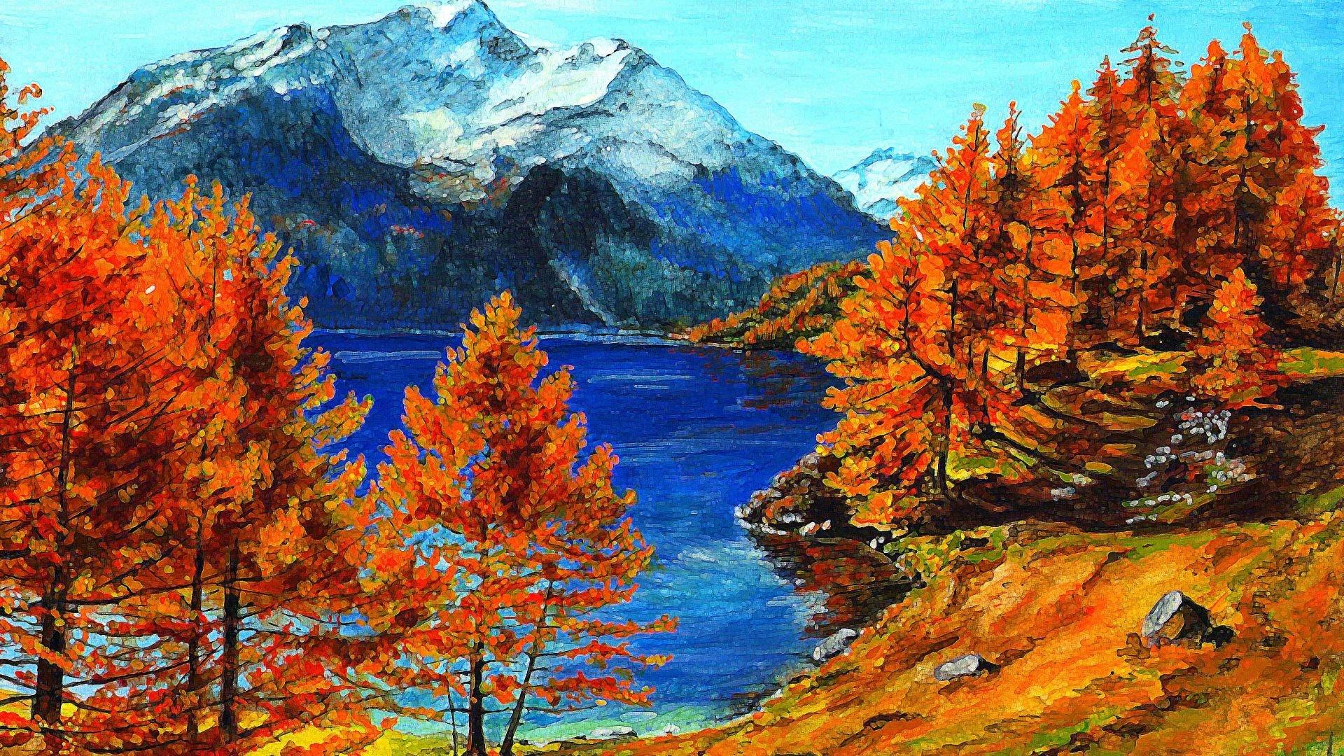 HD Fall Mountain Wallpaper – 41 Fall Mountain Modern 100% .