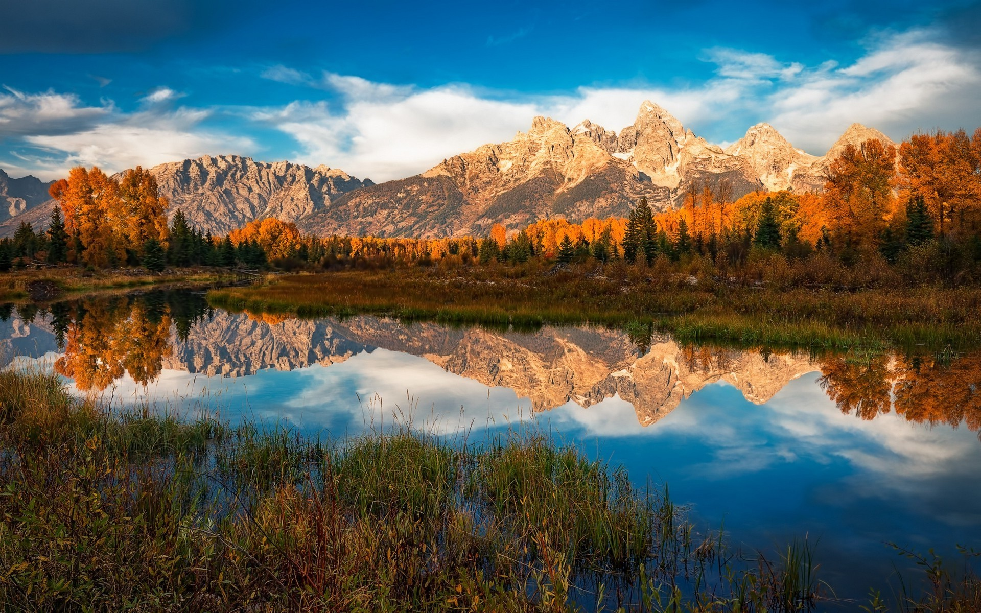 nature, Landscape, Morning, River, Mountain, Forest, Fall, Clouds, Grand  Teton National Park, Water, Reflection, Colorful Wallpapers HD / Desktop  and Mobile …