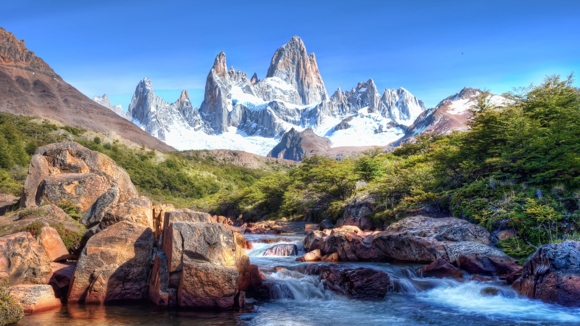 1080P HD Wallpapers Landscape | … landscape > Mountains and River  wallpaper background hd