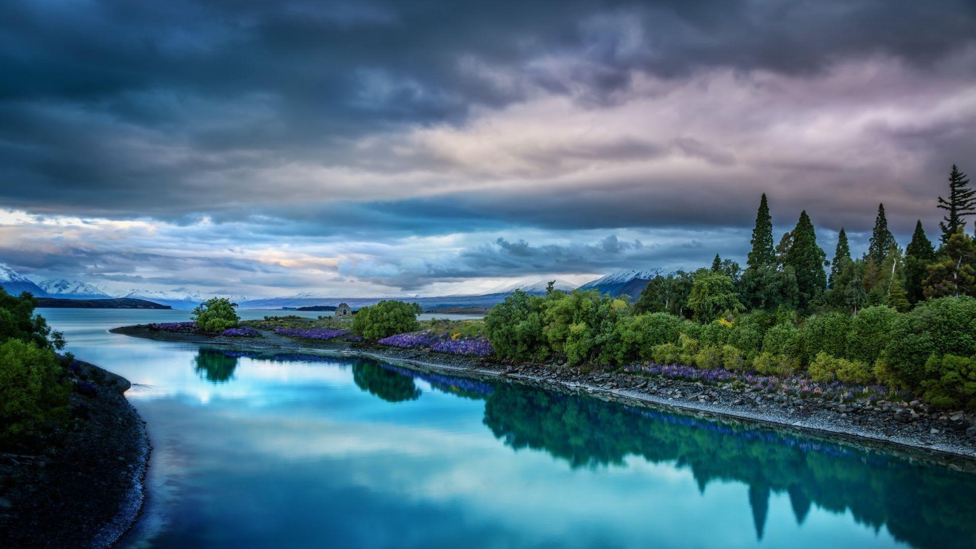 nature, Sunset, River, Rock, Landscape Wallpapers HD / Desktop and .