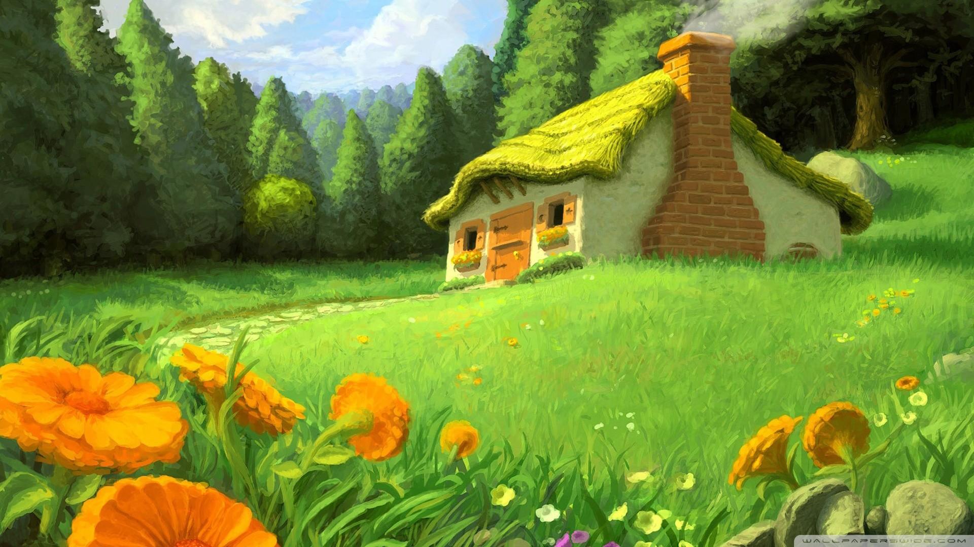 Fantasy Landscape Full HD Desktop Wallpaper.