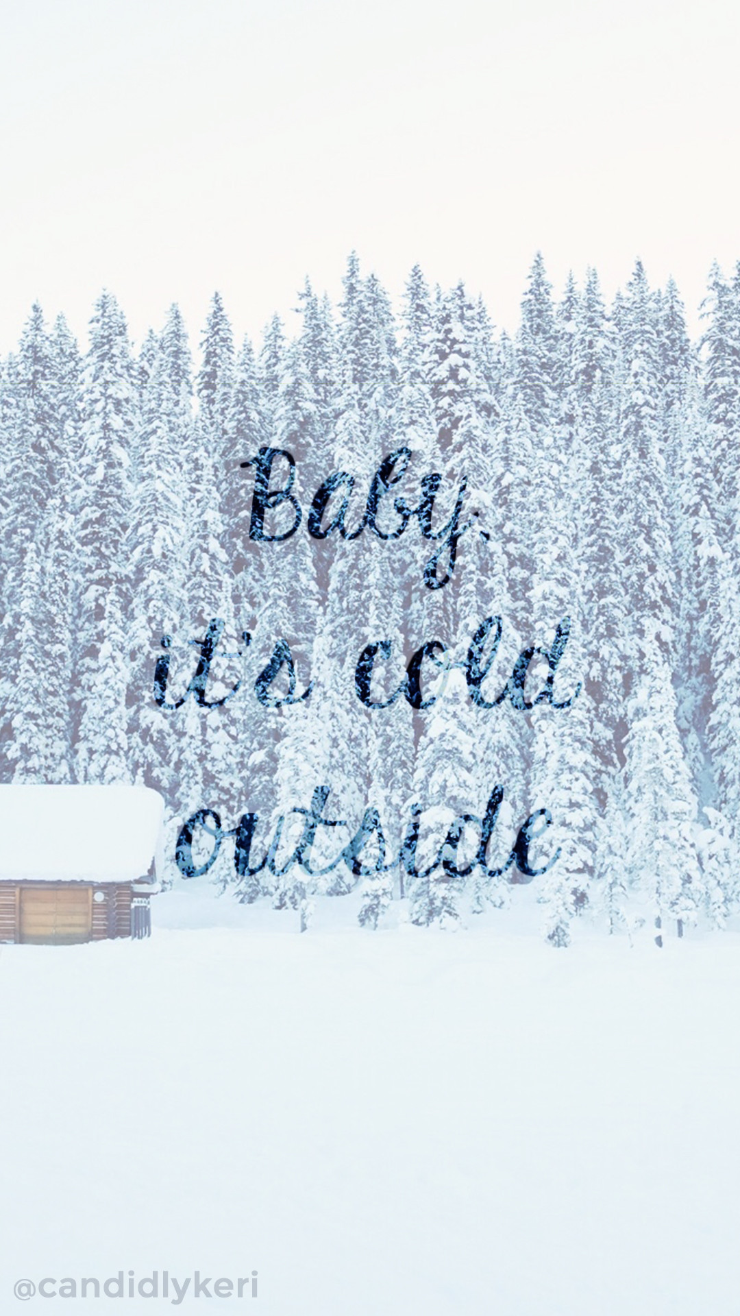 Baby its Cold outside snowy cabin blue snow background wallpaper you can  download for free on