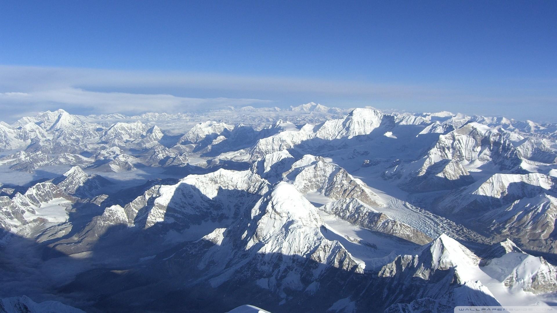 Snowy Mountain Peaks Wallpaper Snowy, Mountain, Peaks