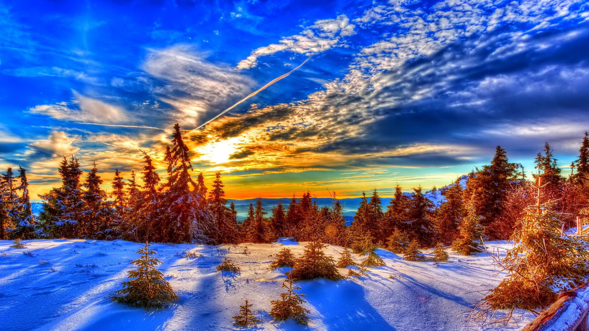 Download Winter Sunset HD Wallpapers Desktop Backgrounds in HD High .