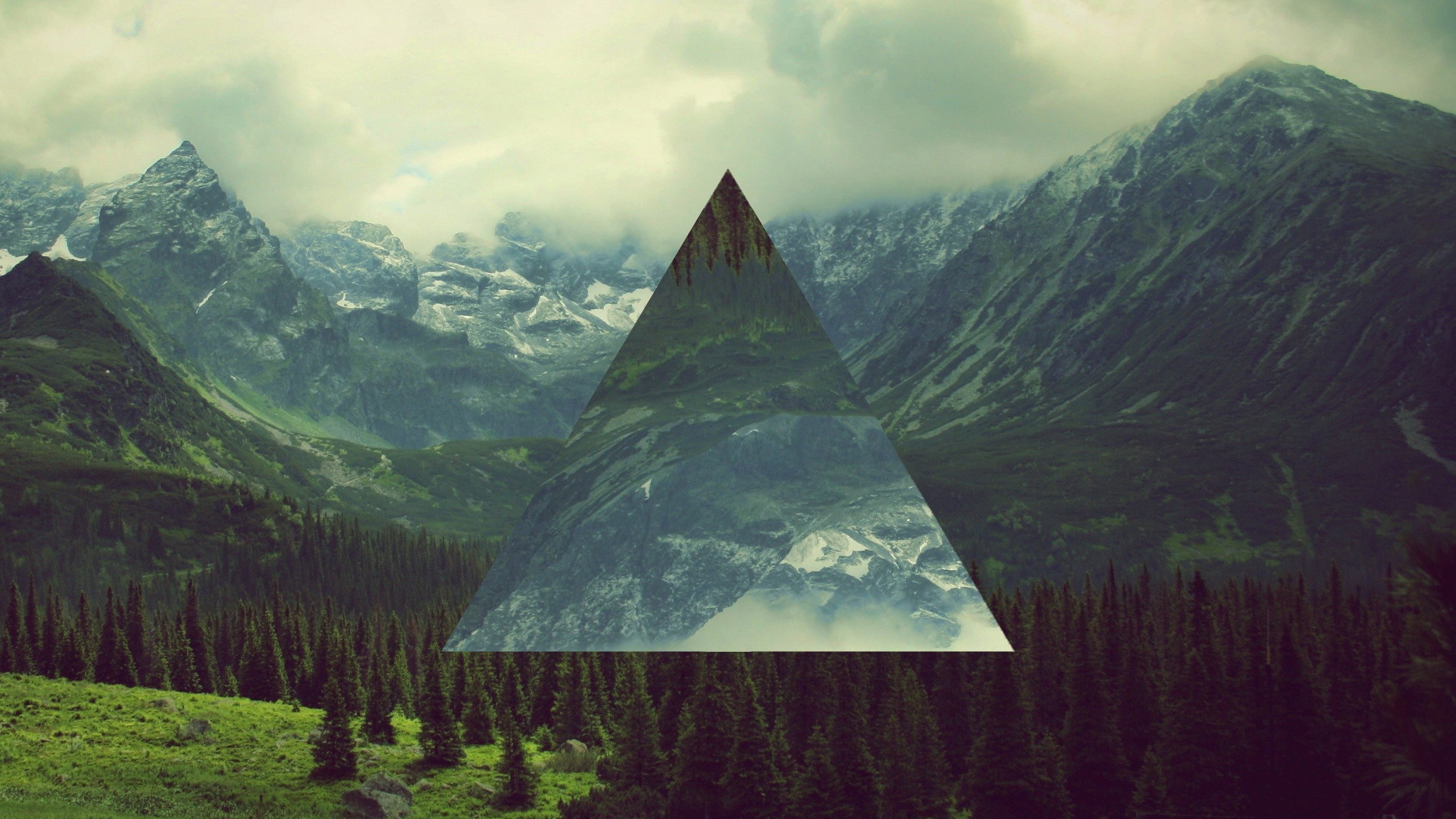 landscape, Triangle, Polyscape Wallpapers HD / Desktop and Mobile  Backgrounds