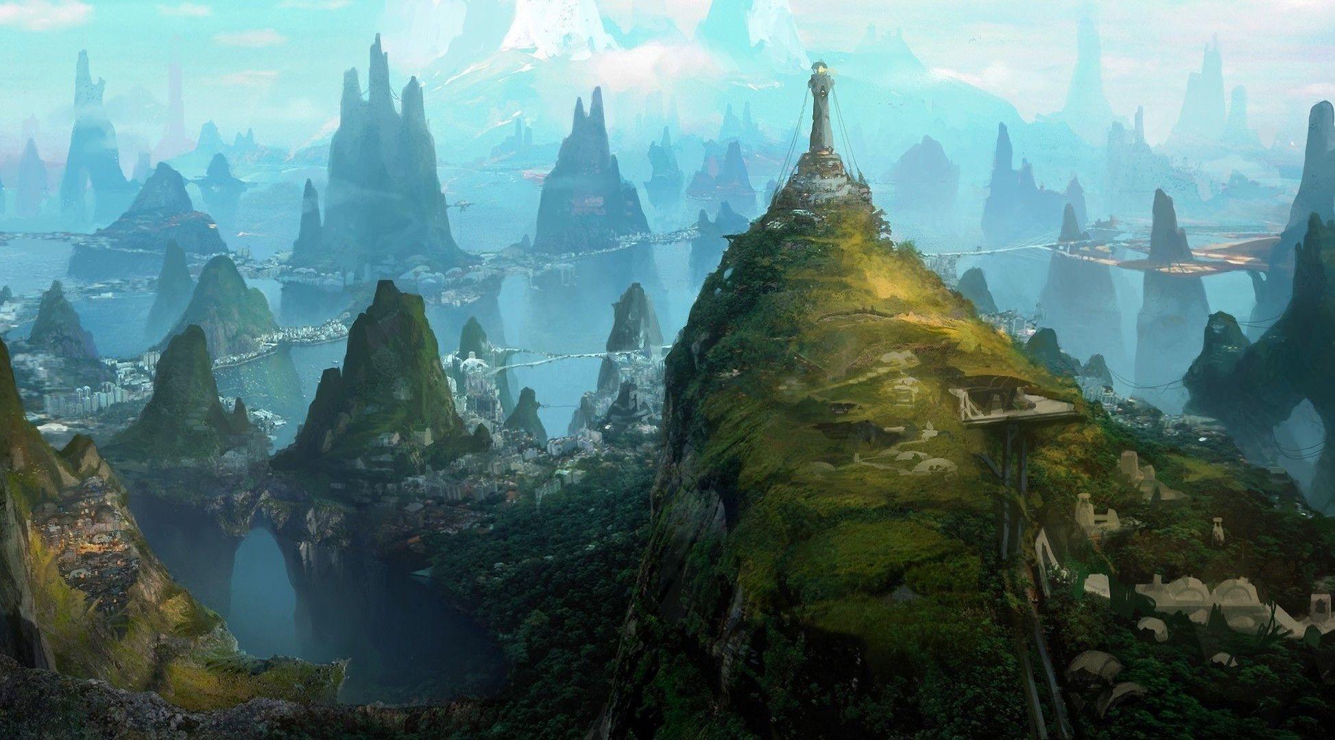 Fantasy Landscape City Photos 14861 Full HD Wallpaper Desktop .