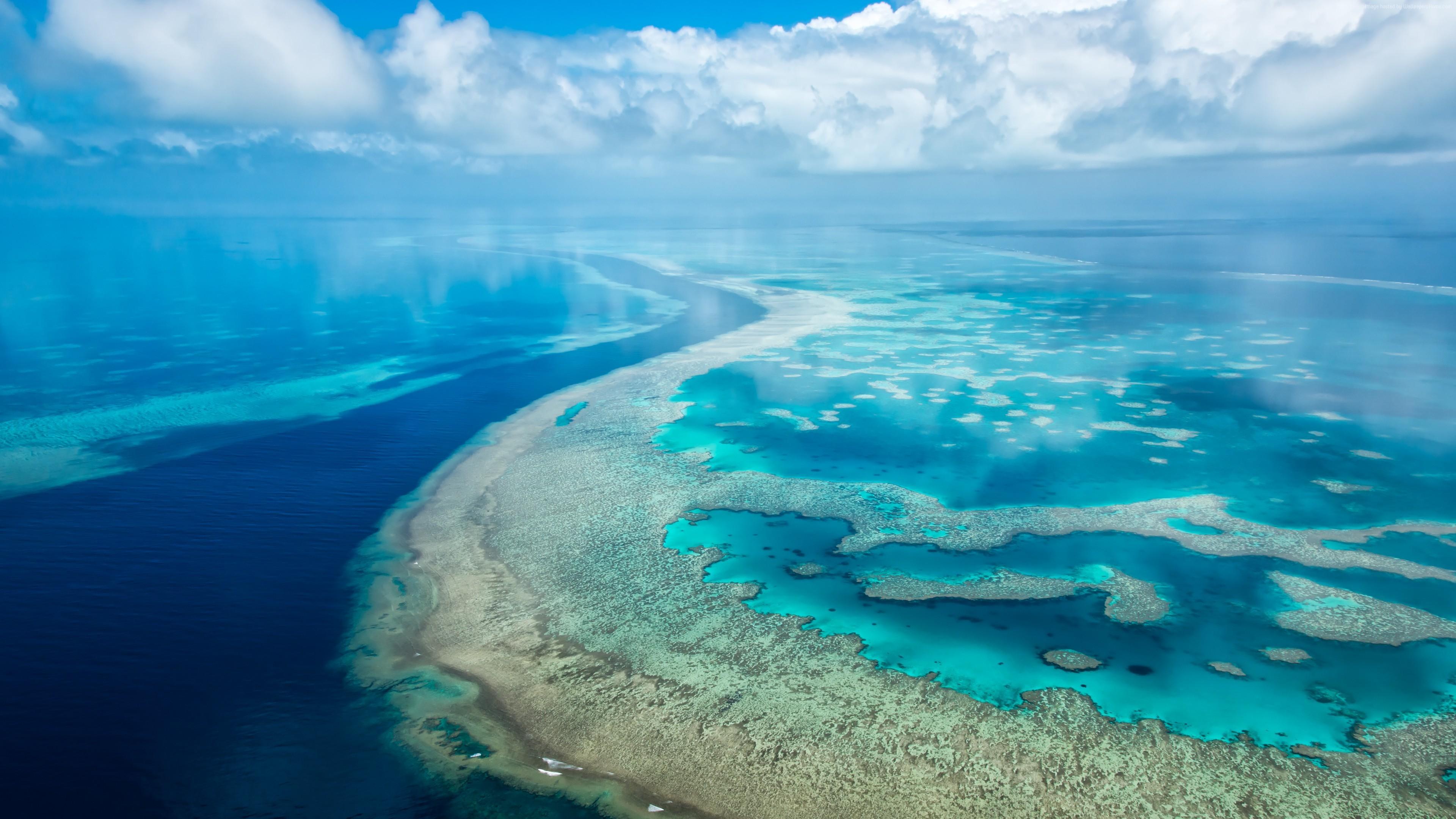 Ocean, 4k, HD wallpaper, clouds, Surface Hub, live wallpaper, …