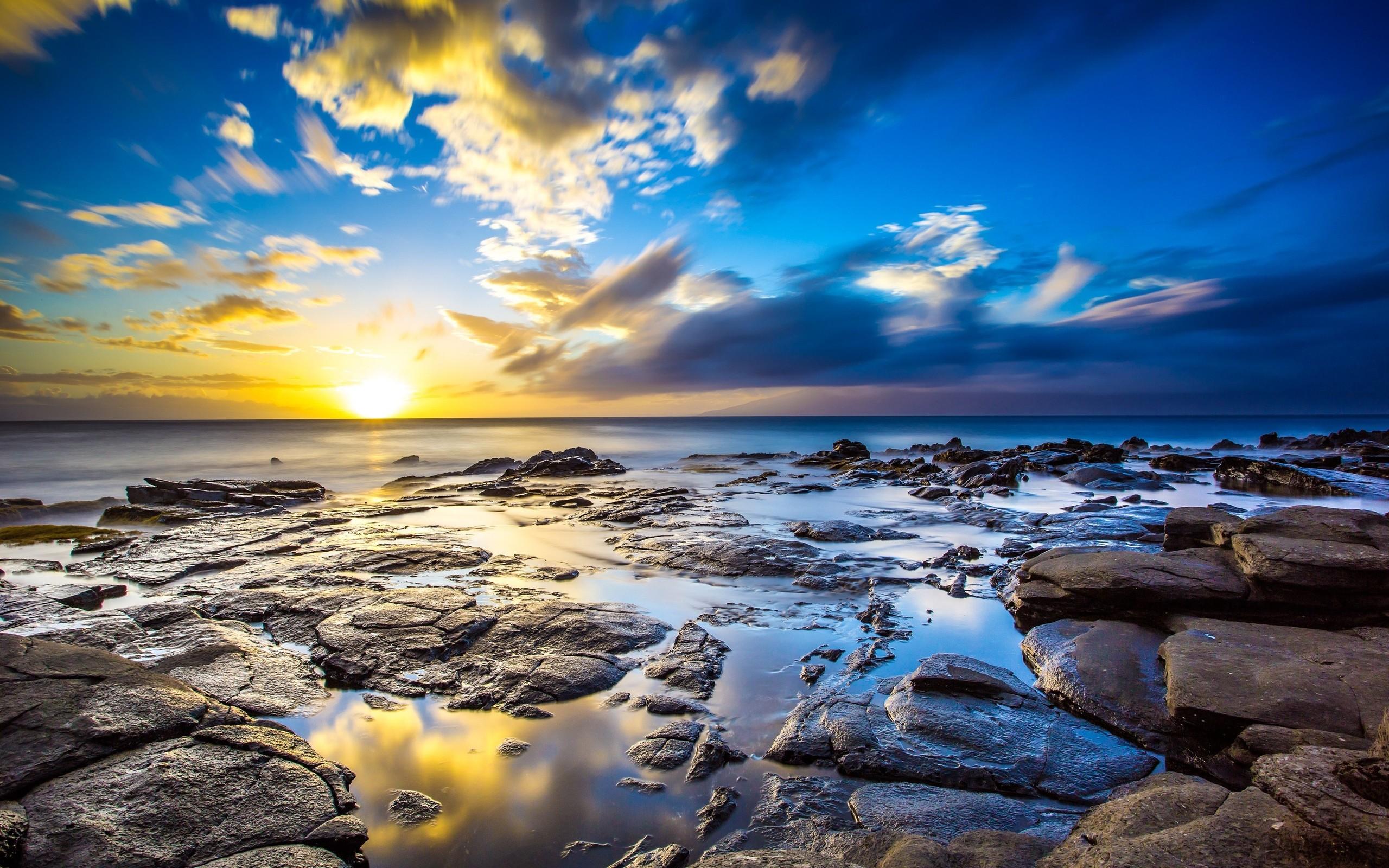 Landscape 4K Ultra HD Wallpaper | Sunrise Ocean 4K Ultra HD wallpaper | 4k- Wallpaper
