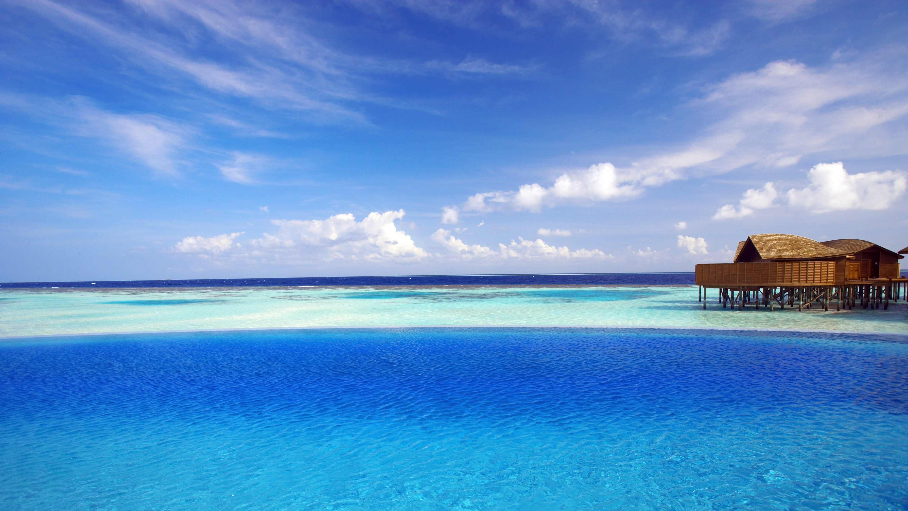 Wallpaper maldives, tropical, bungalows, ocean