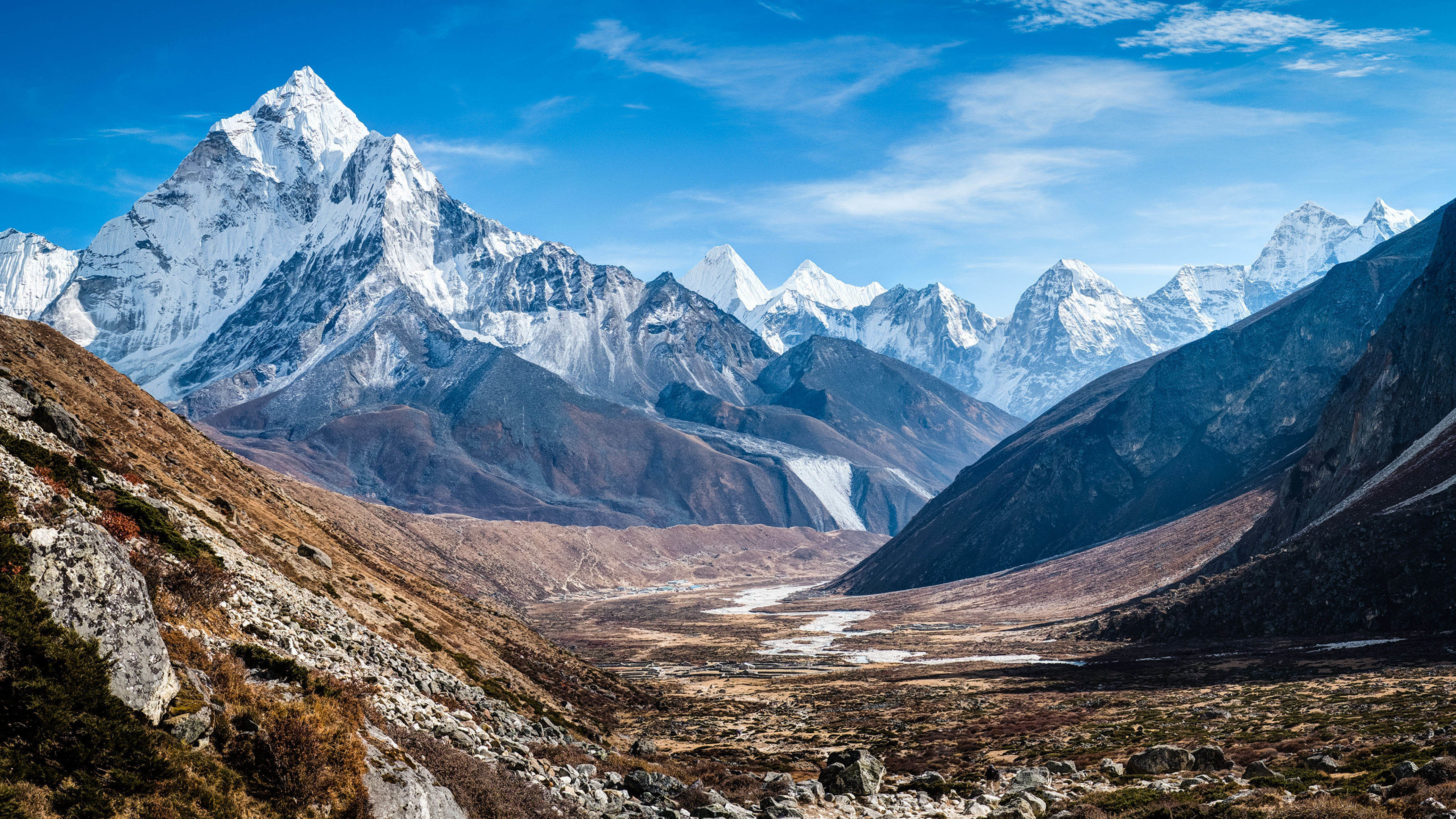 Beautiful Snowy Mountain Landscape wallpaper