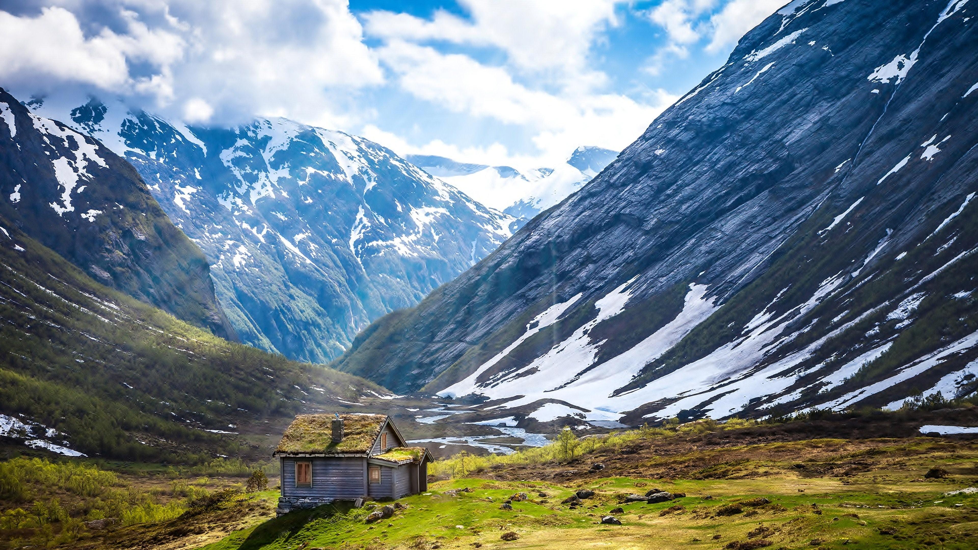 Landscape 4K Ultra HD Wallpaper   Mountain snow and fogs 4K Ultra HD  wallpaper   4k