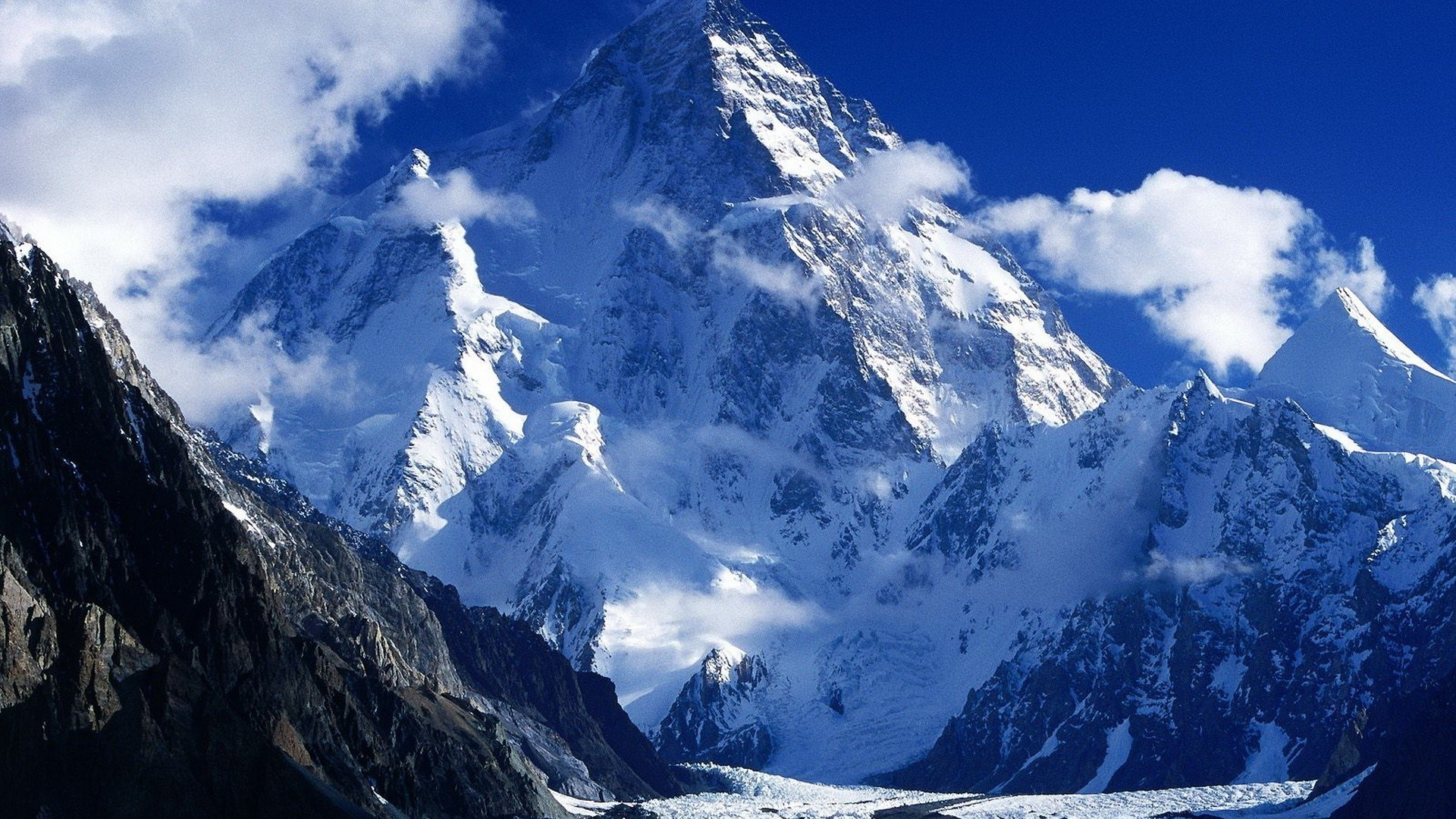 Snow Mountains Wallpaper