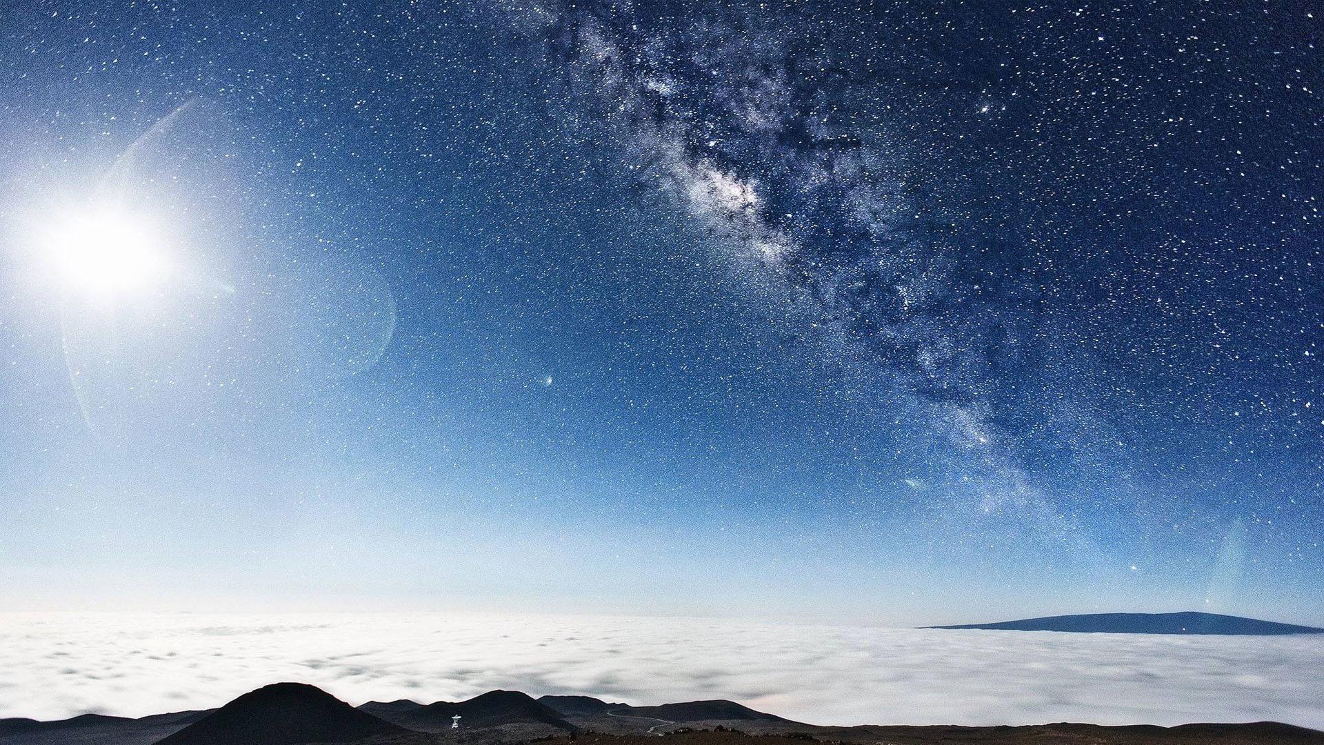 The Milky Way seen from the top of Mauna Kea in Hawaii (1920×1080) HD