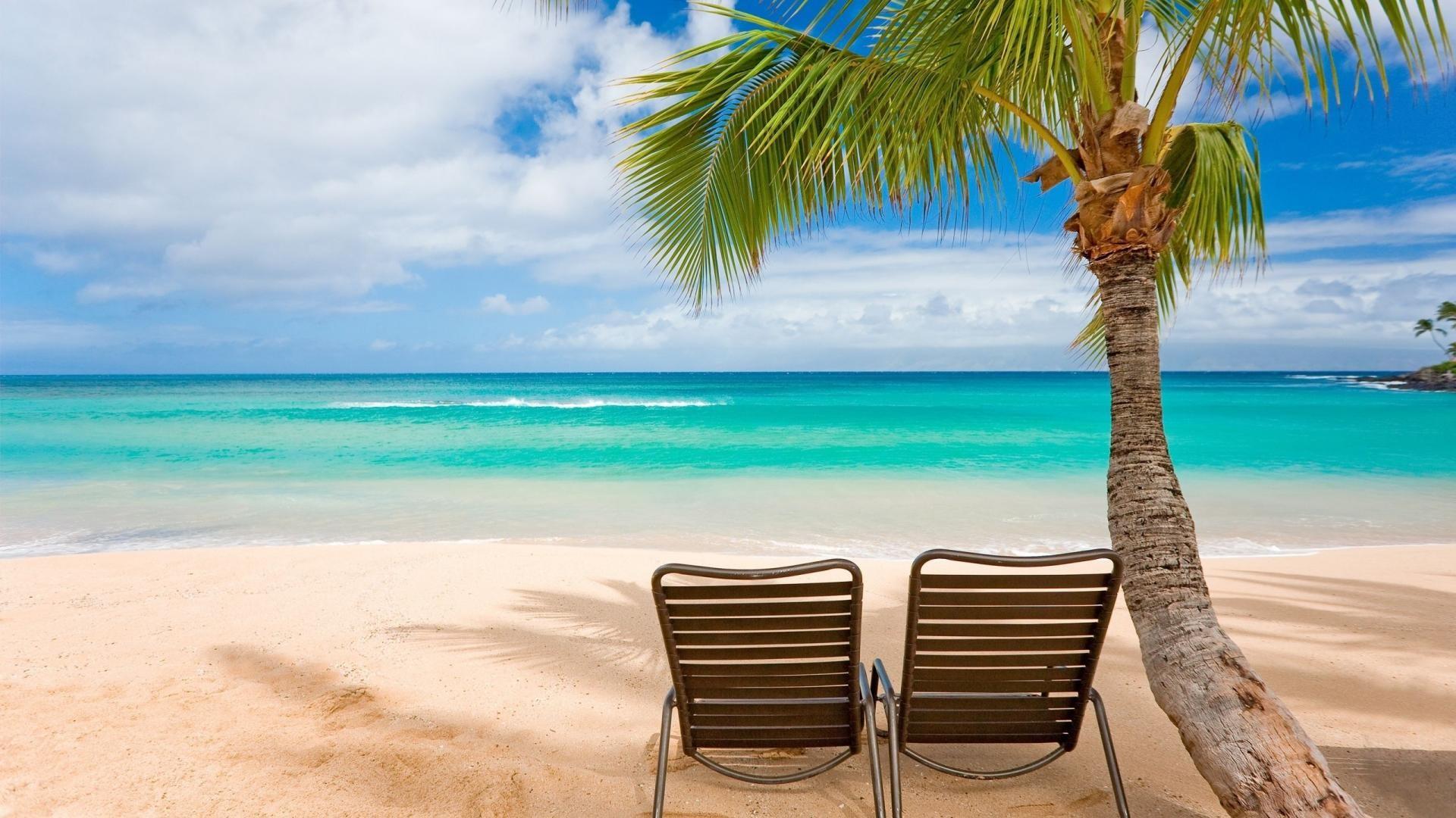 Maui Beach Chairs HD Wallpaper