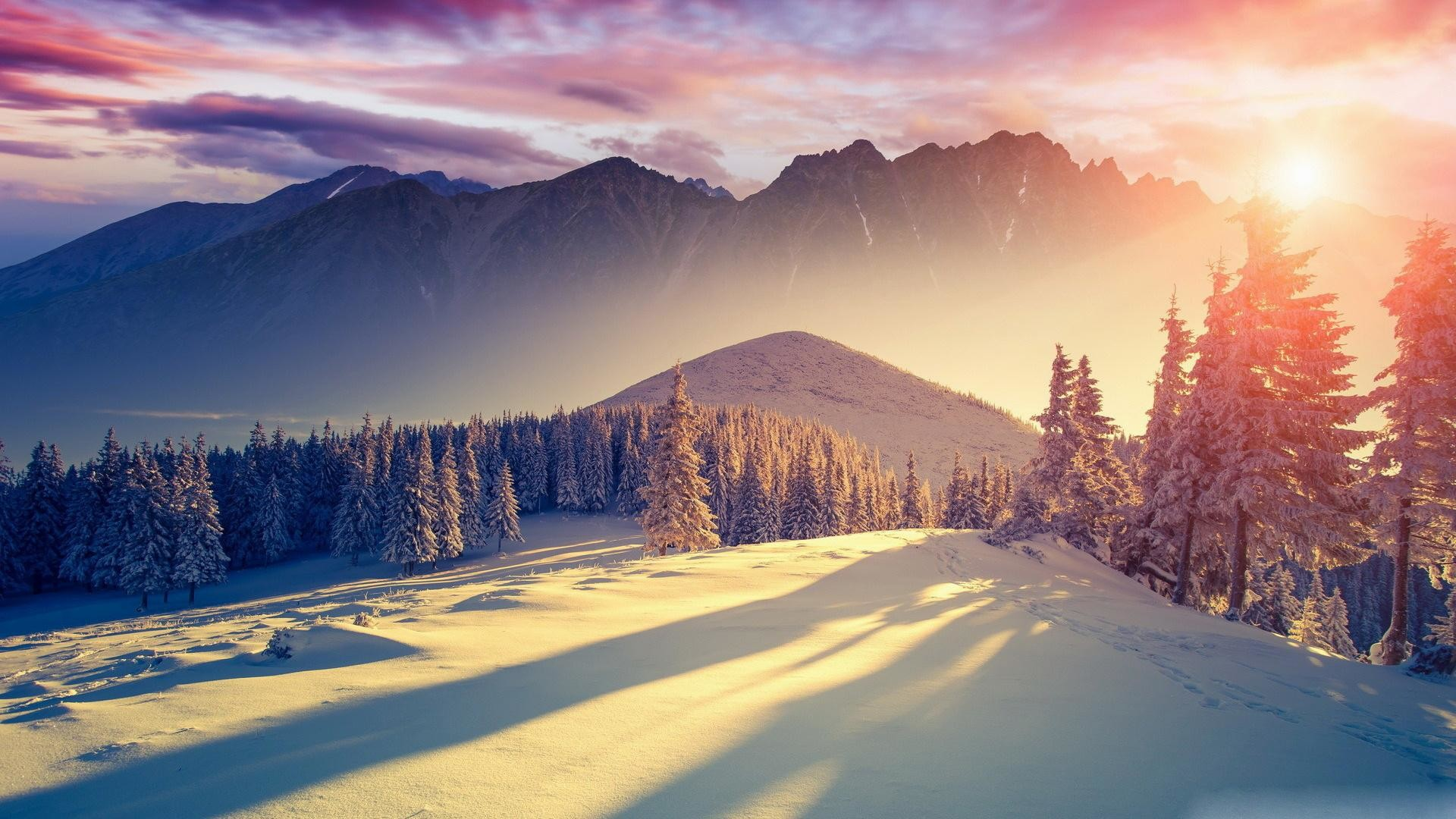 wallpaper.wiki-Sunset-Winter-images-1920×1080-PIC-WPE00116