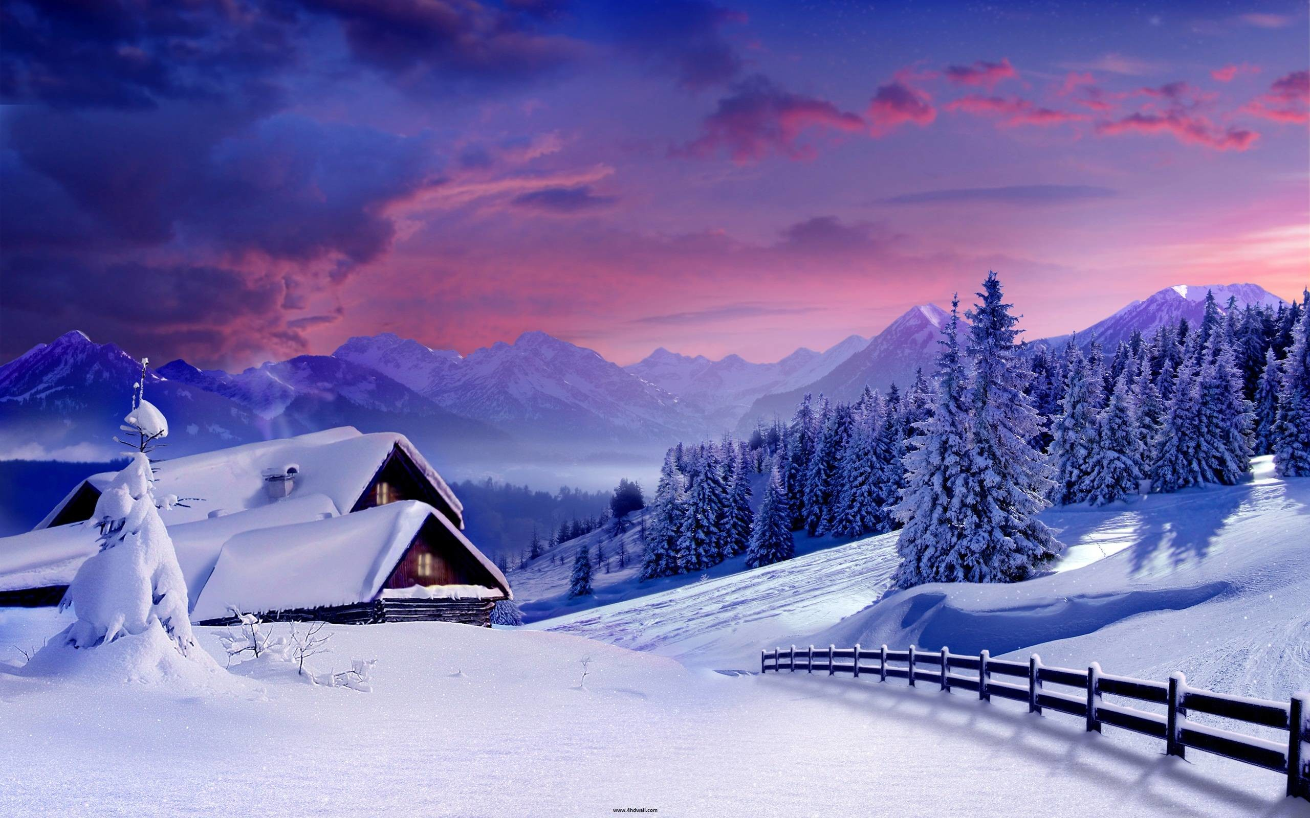 Beautiful Winter HD Wallpaper / Wallpaper Winter 18006 high .