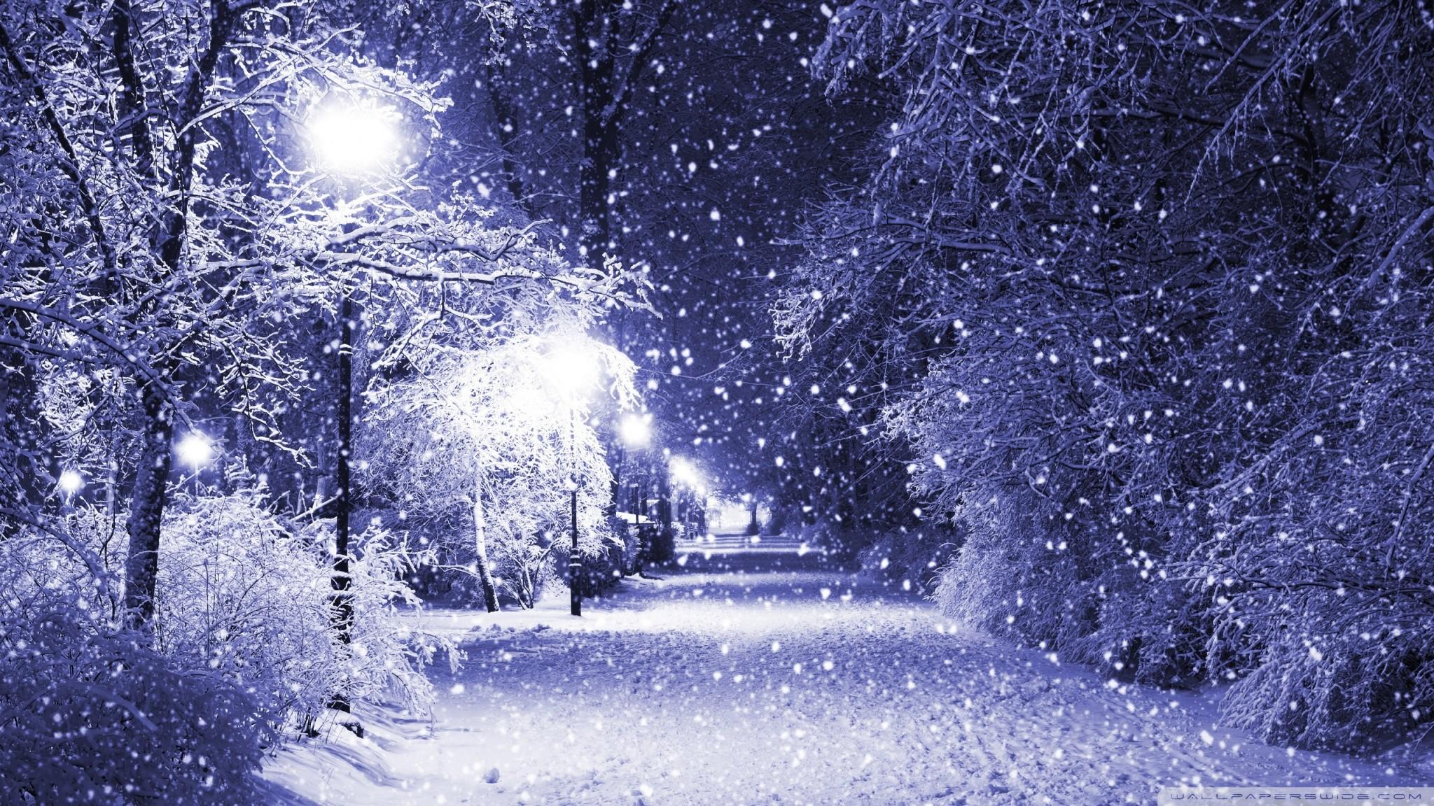 Winter Night HD desktop wallpaper Mobile Dual Monitor