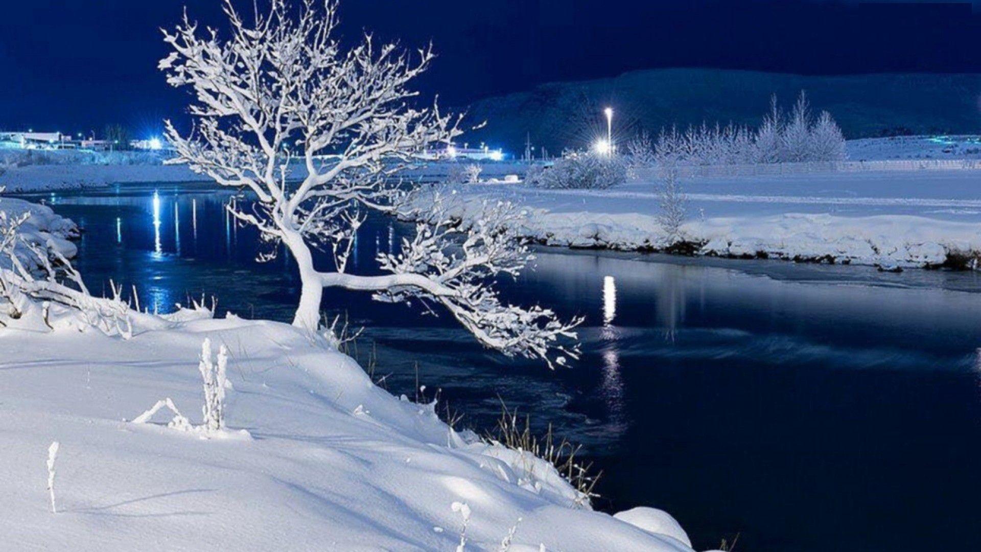 Explore Snow Scenes, Winter Scenes, and more! Frosty Riverside HD Desktop  Background wallpaper free
