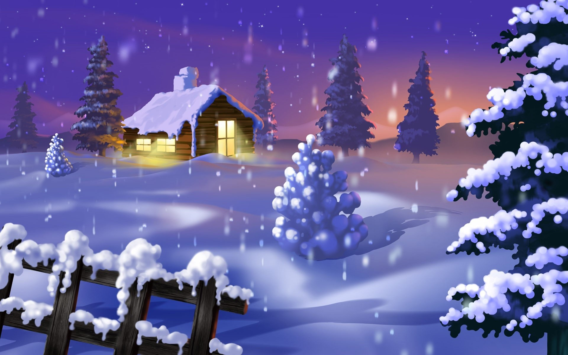 Cool Beautiful Winter Night Gallery.