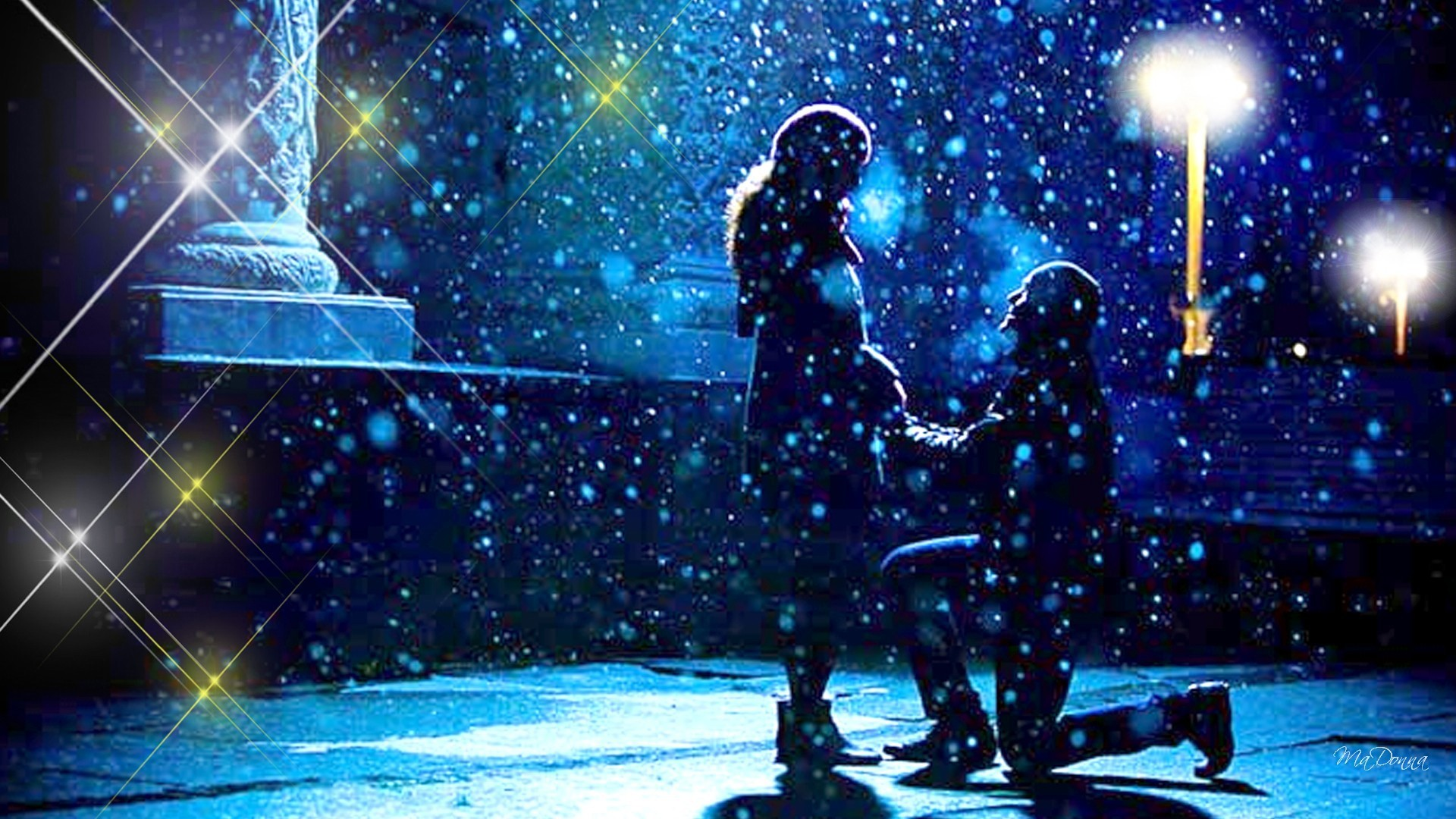 … Night Lamps Free Desktop Backgrounds. 1920×1080. Lamps Tag – Love Snow  Sparkles Cold Romantic Valentines Day Lovers Proposal Stars Winter Couple  Lights
