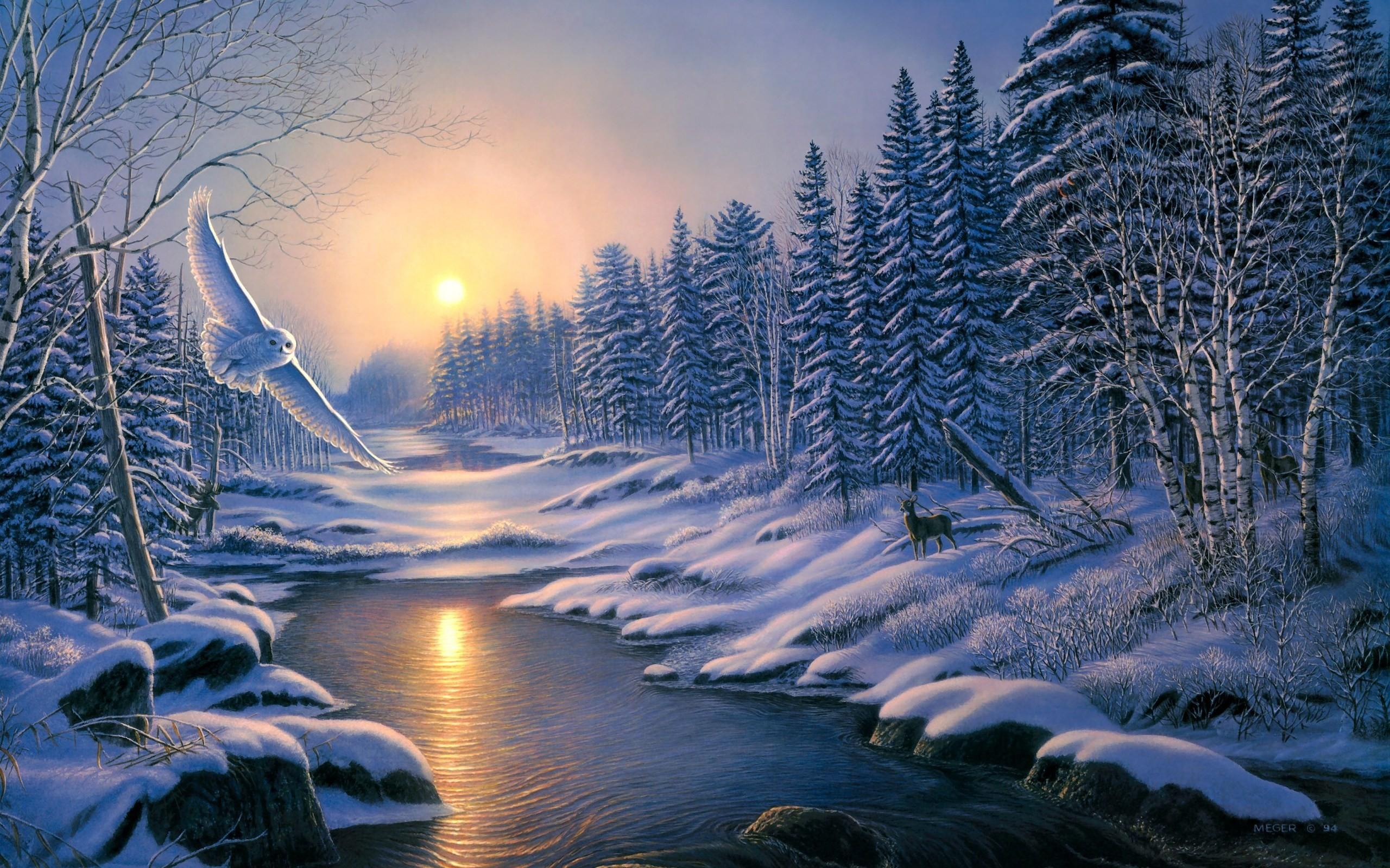 artistic winter Wallpaper Backgrounds