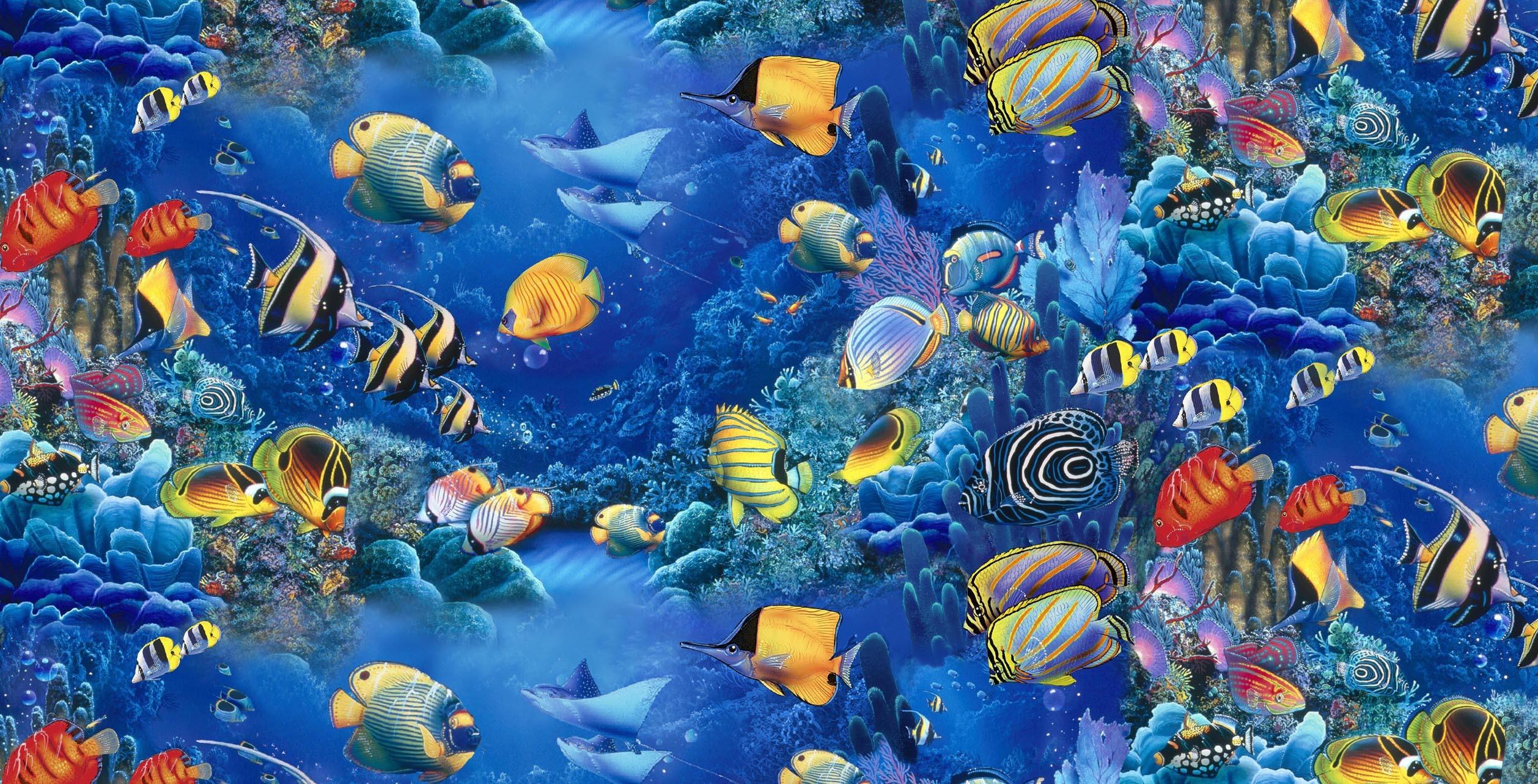 Quilt Fabric- Elizabeths Studio-Children of the Sea-Quiltersjoy.com