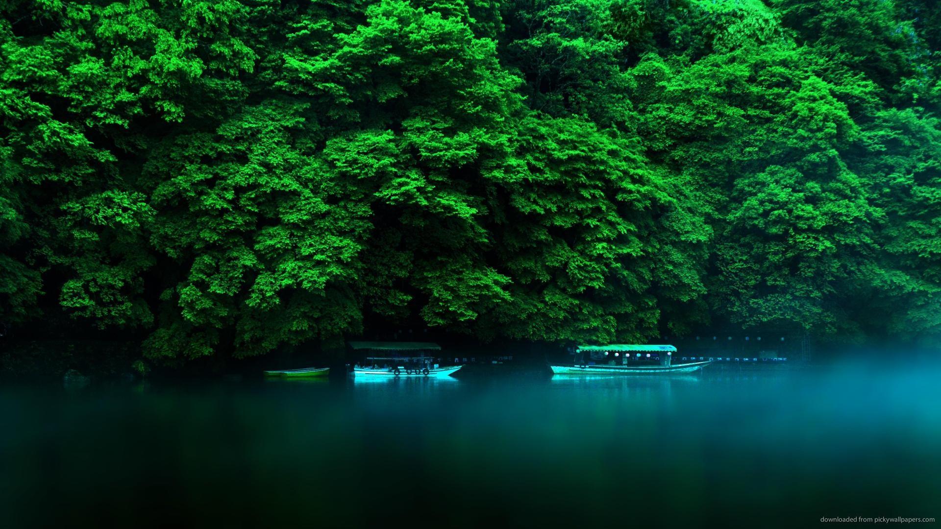 Smoke On The Japanese River wallpaper