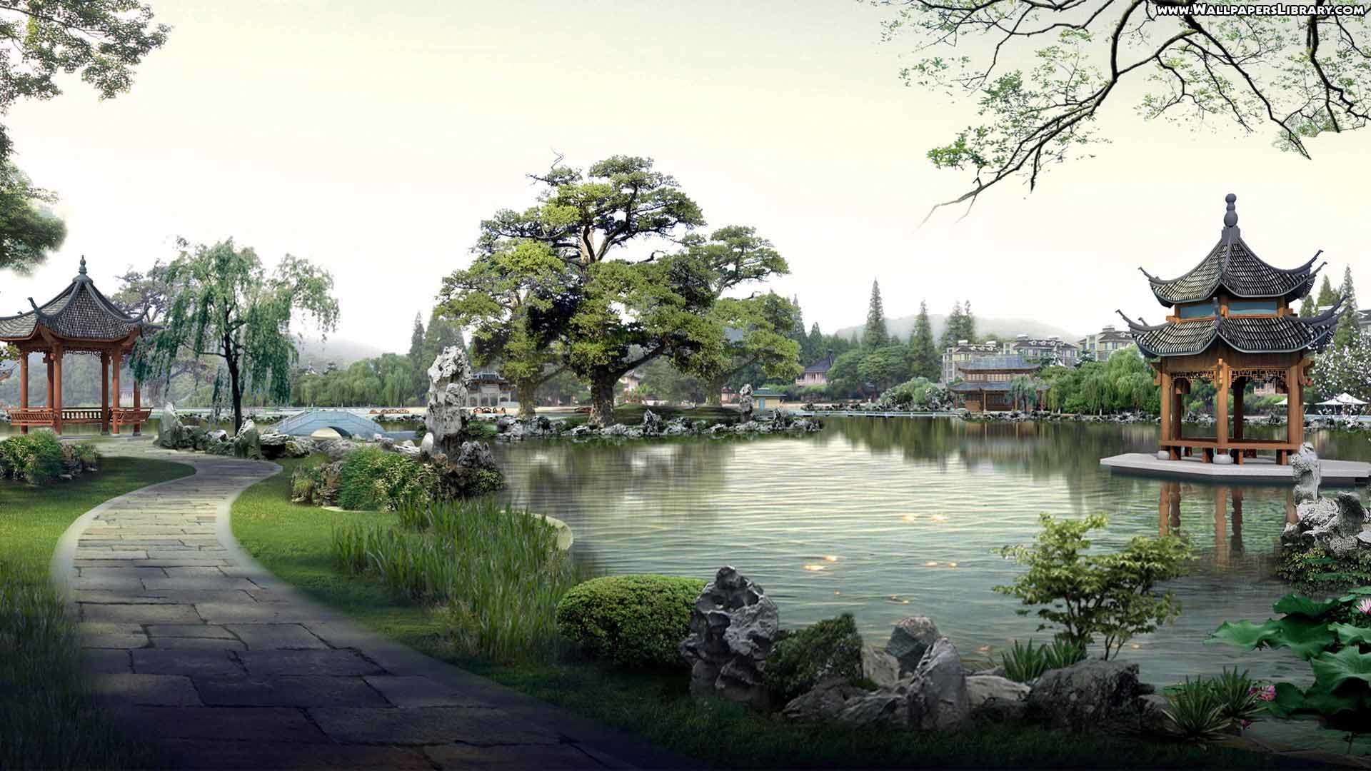 High Definition Japanese Village Wallpaper