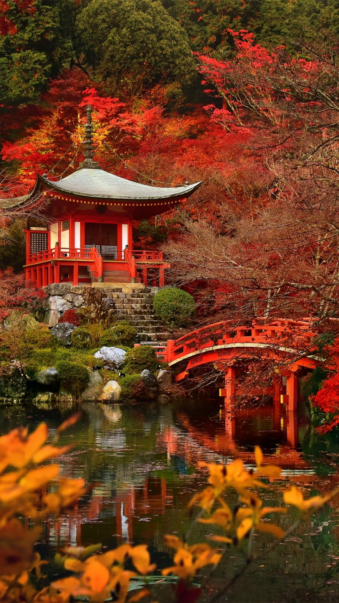 Autumn In Japan – Tap to see more beautiful nature wallpapers! – @mobile9